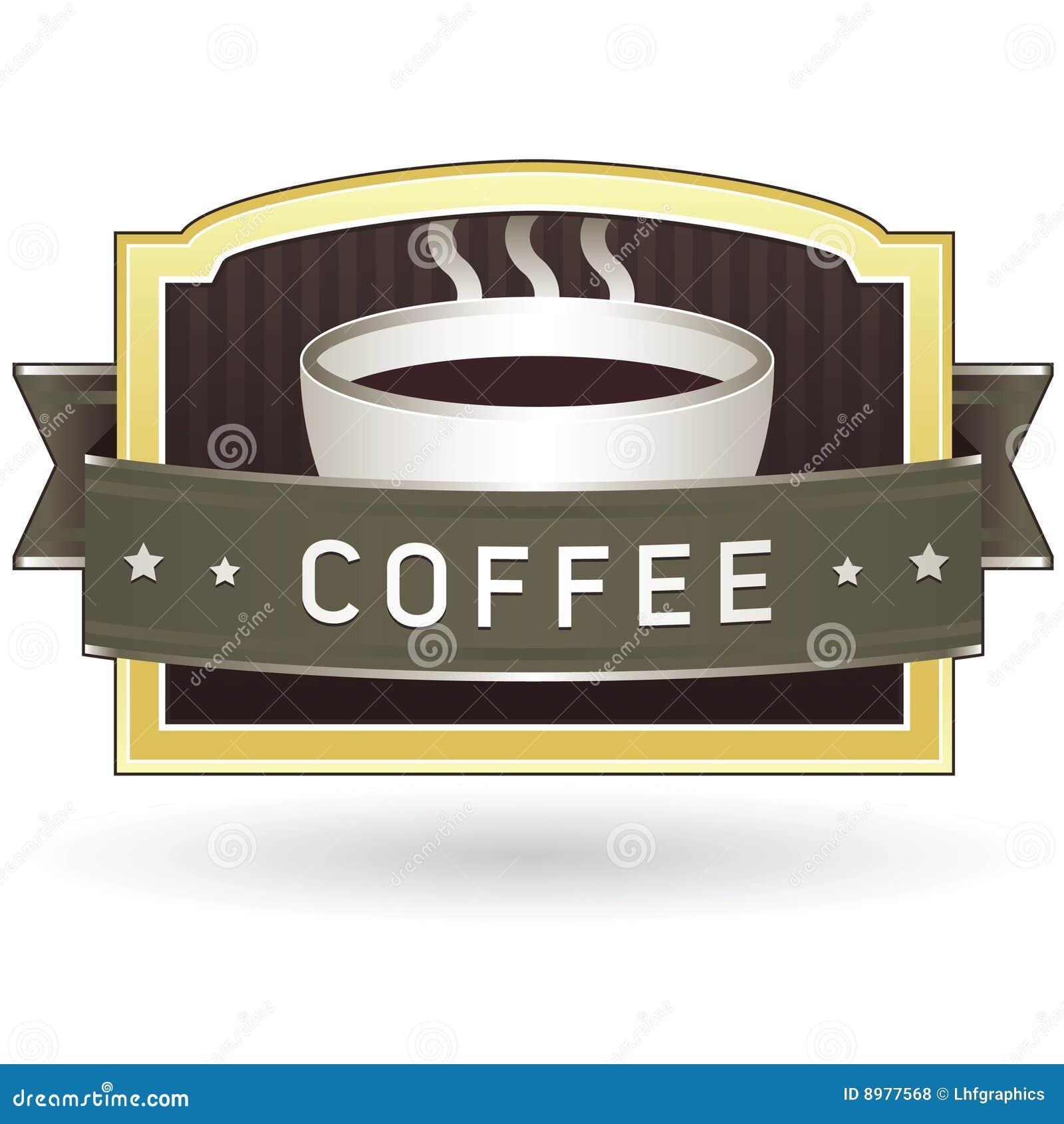 Etiqueta da etiqueta do produto do café