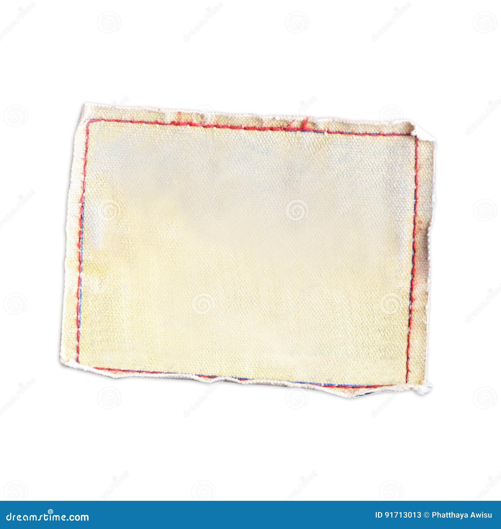 Etiqueta da lona das calças de brim isoladas