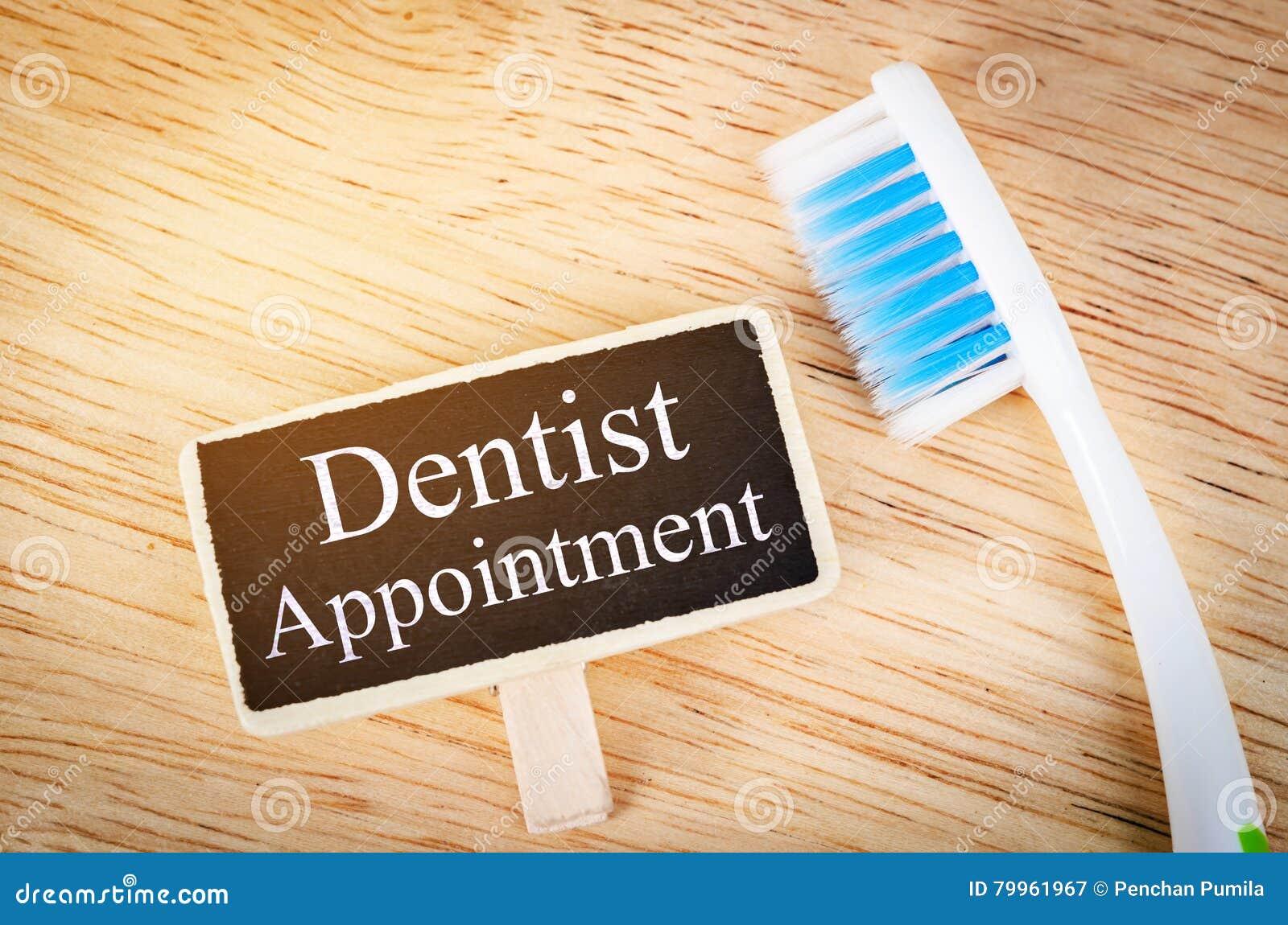 Etiqueta da nomeação do dentista