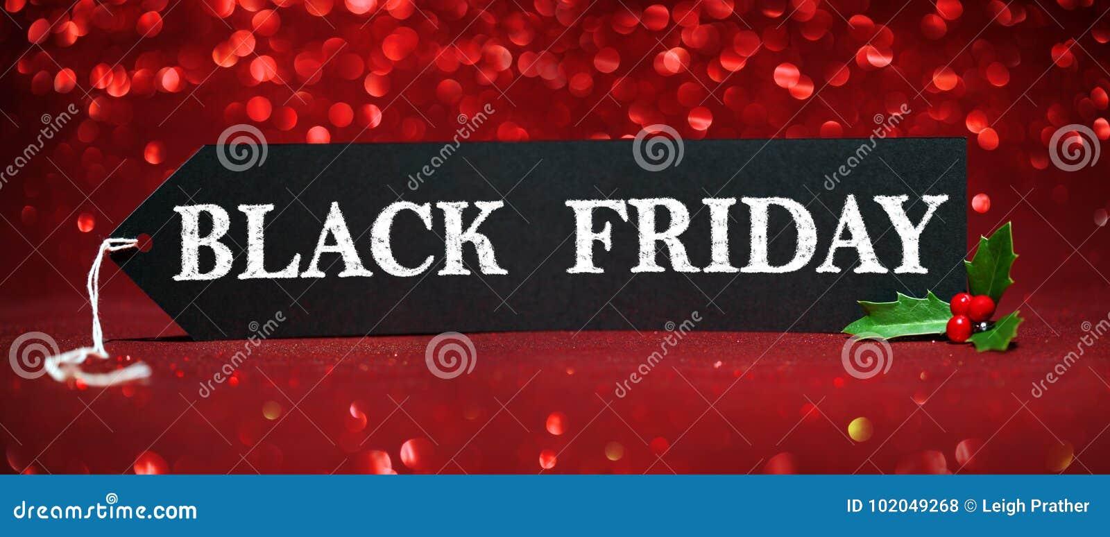 Etiqueta da venda de Black Friday
