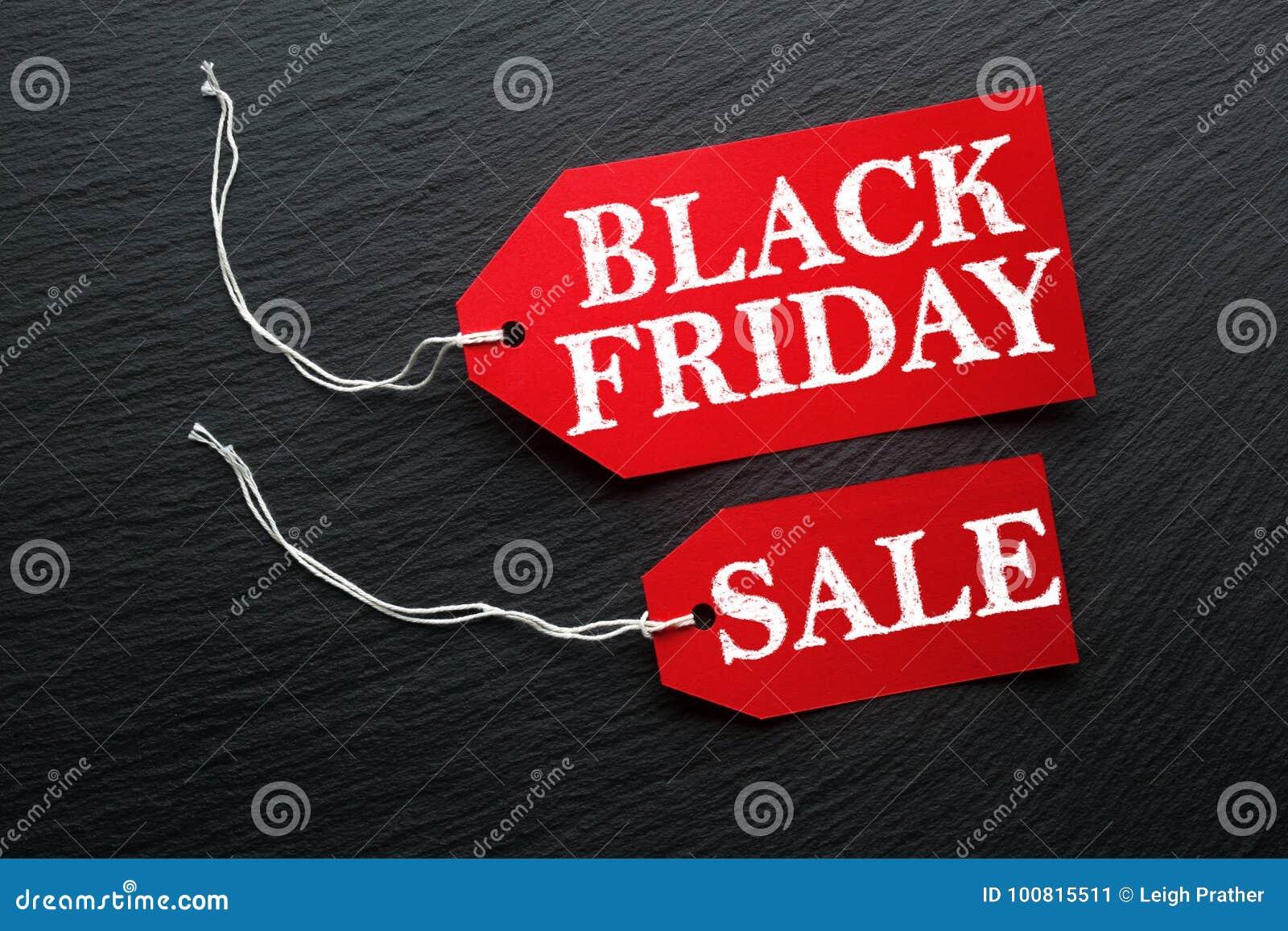 Etiqueta da venda de Black Friday na ardósia escura