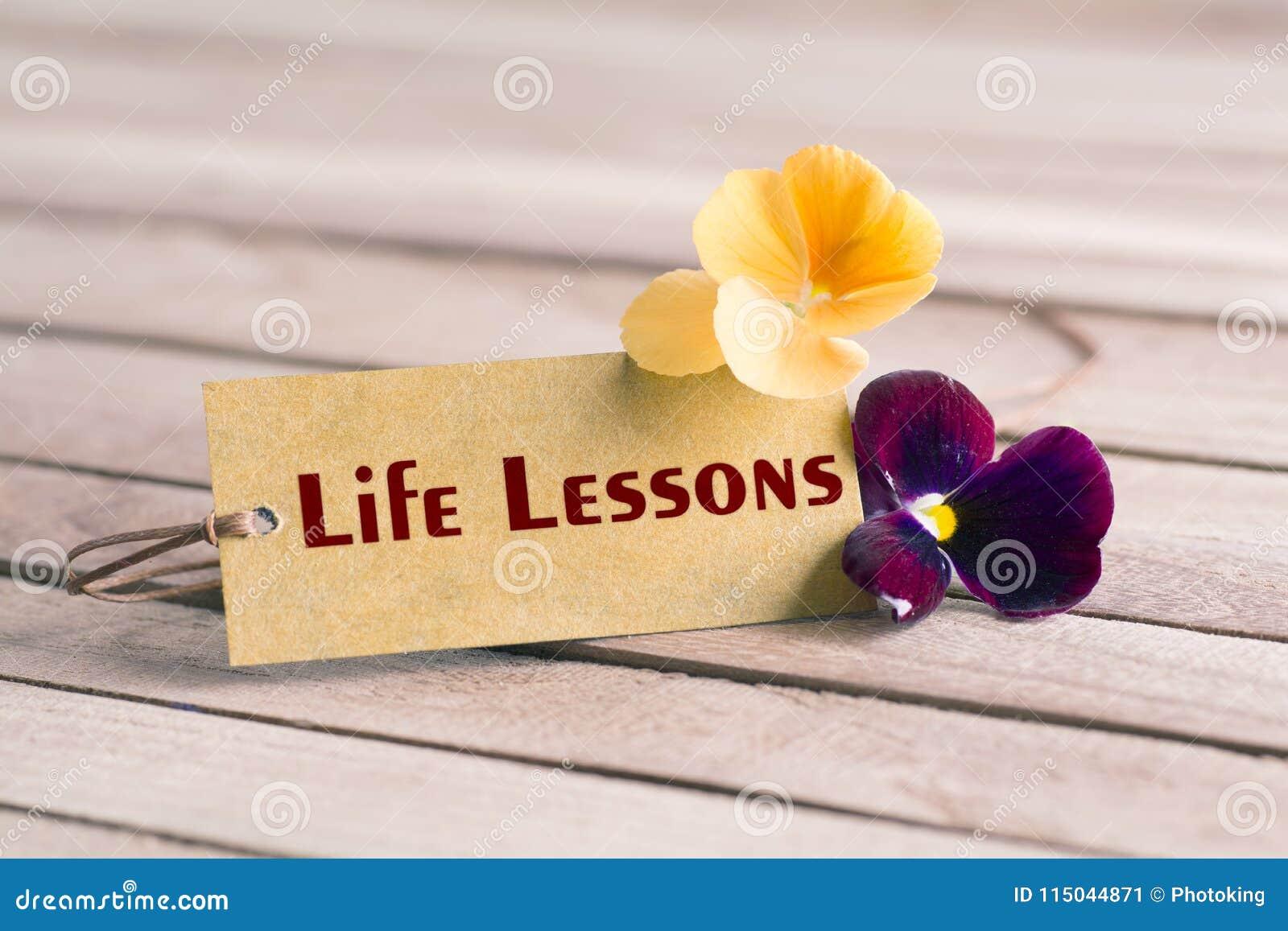 Etiqueta das lições da vida