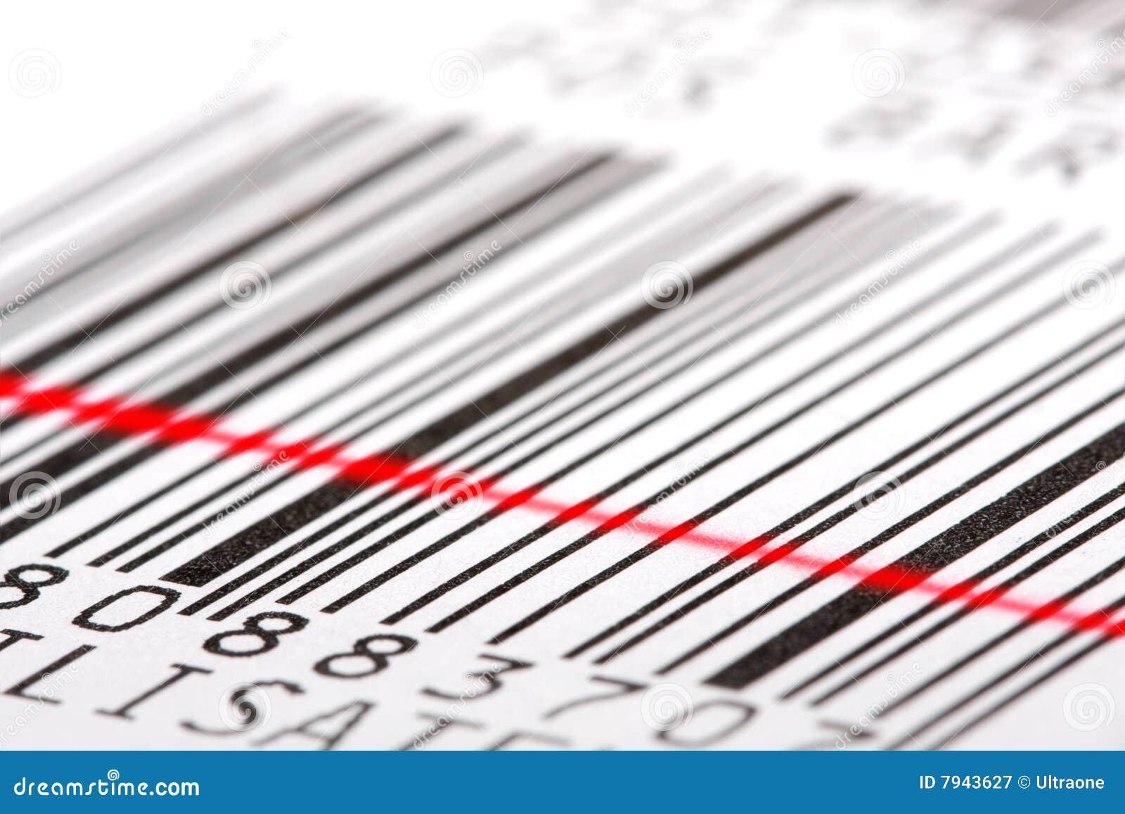 Etiqueta de código de barras.