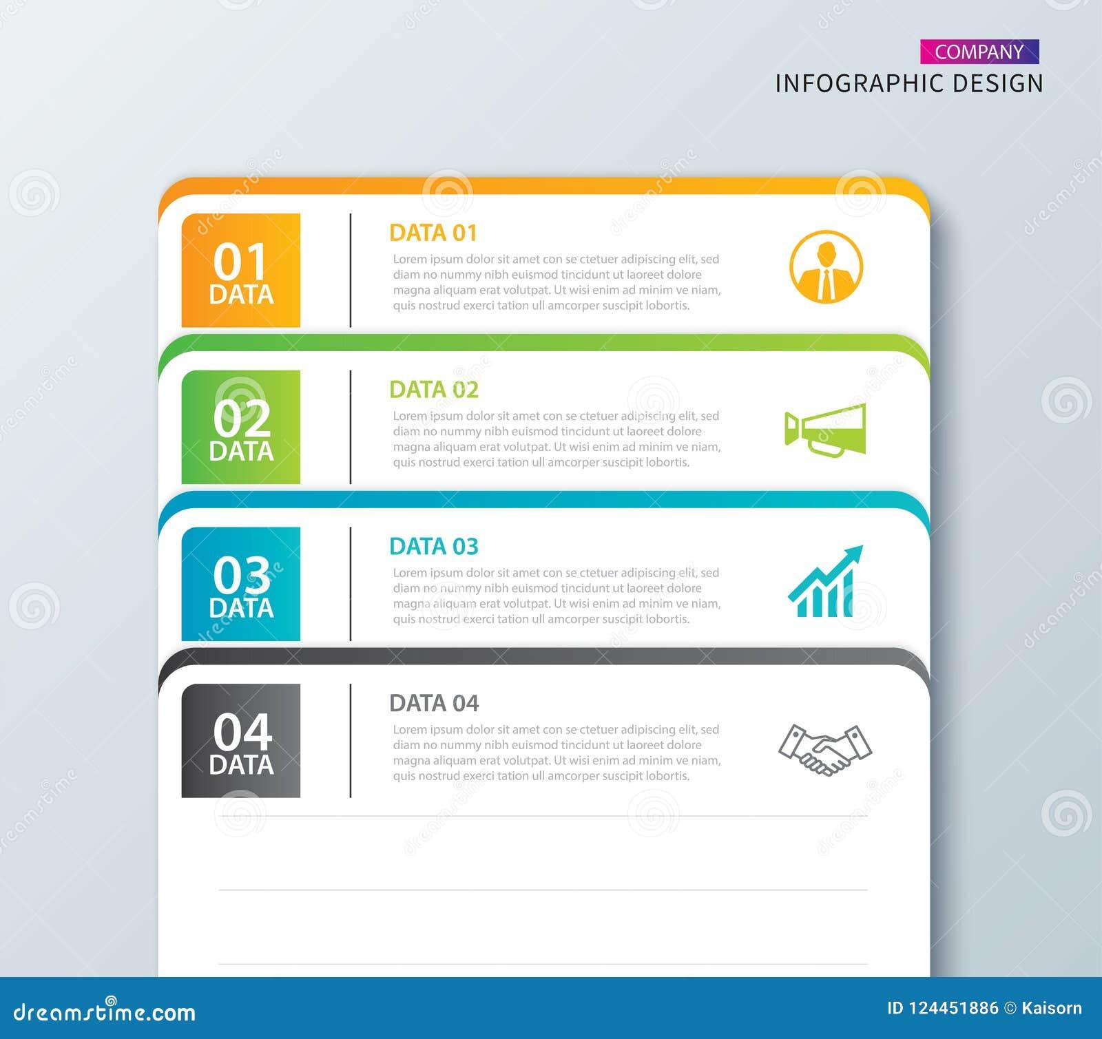 Etiqueta De Infographics En índice De Papel Horizontal Con La ...