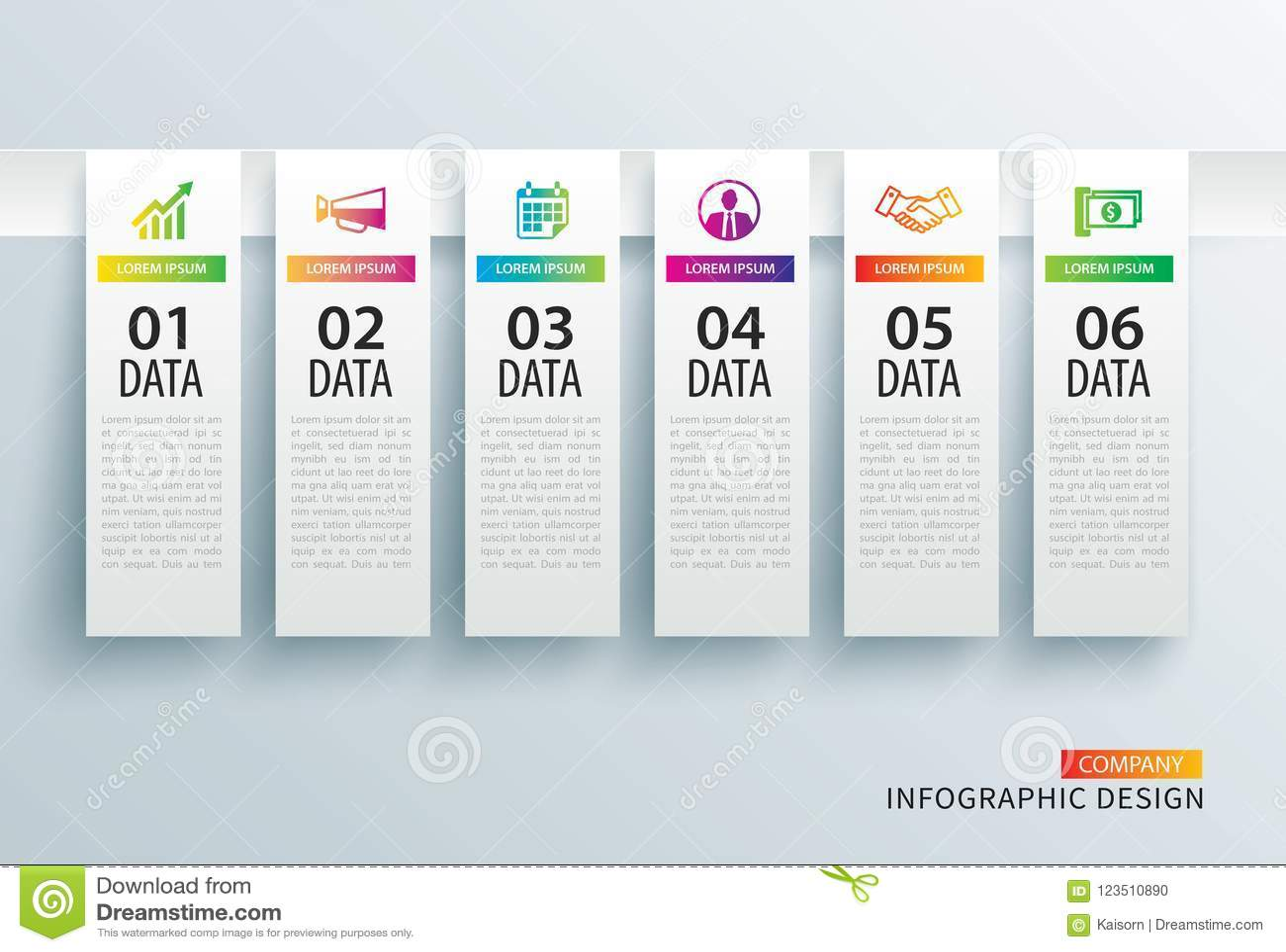 Etiqueta De Infographics En índice De Papel Vertical Con La ...