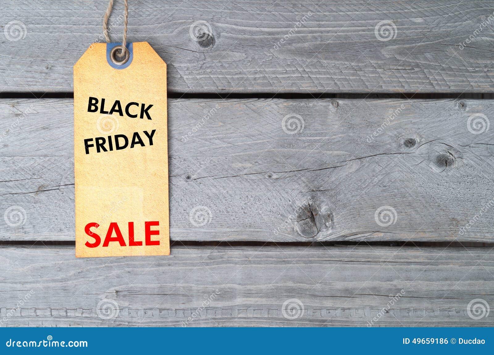 Etiqueta de la venta de Black Friday