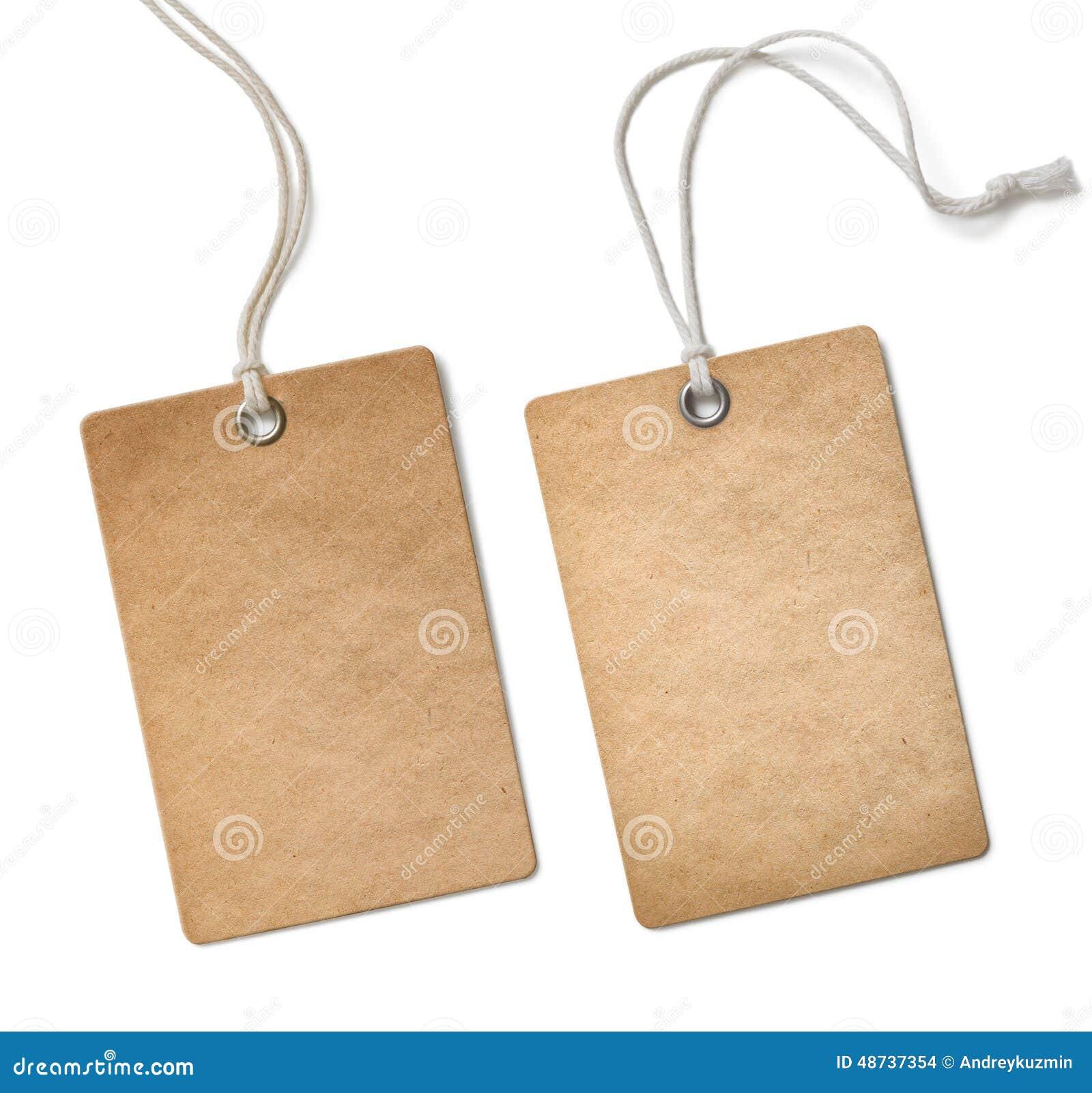 Etiqueta de pano ou grupo de etiqueta de papel velho isolado