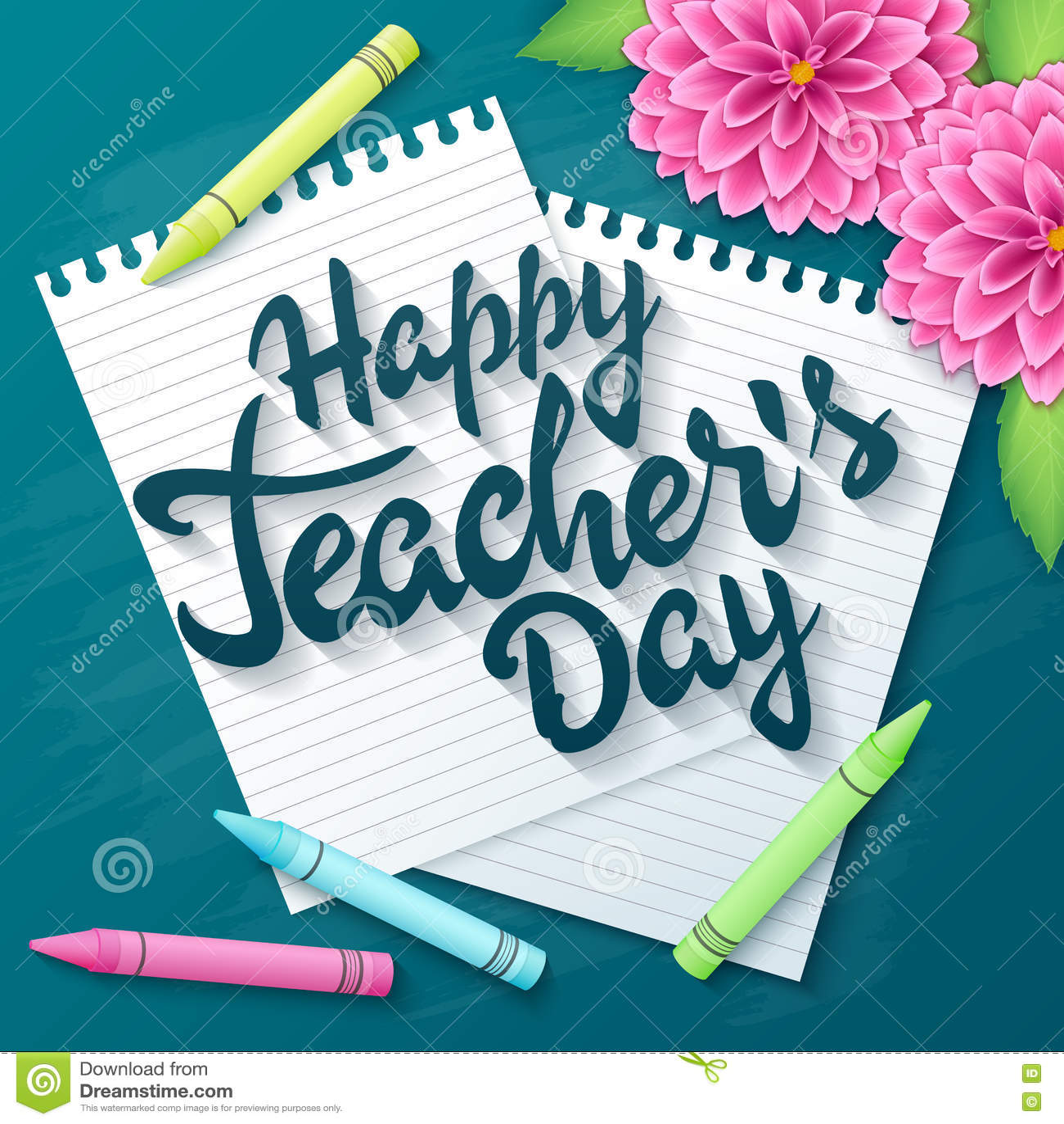 Etiqueta dibujada mano de los saludos de las letras de día de los profesores del vector - día feliz de los profesores - con las p