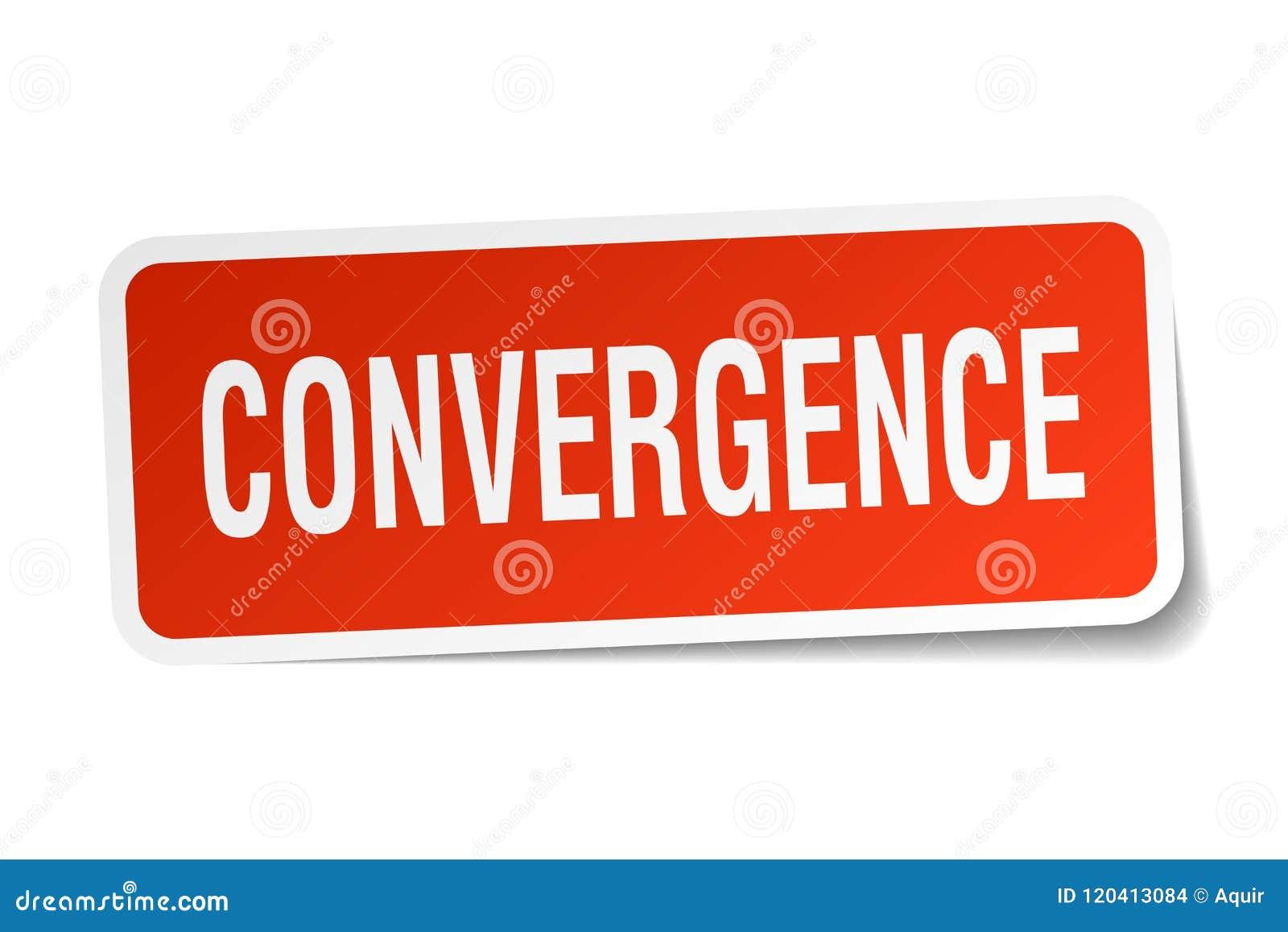 Etiqueta engomada de la convergencia