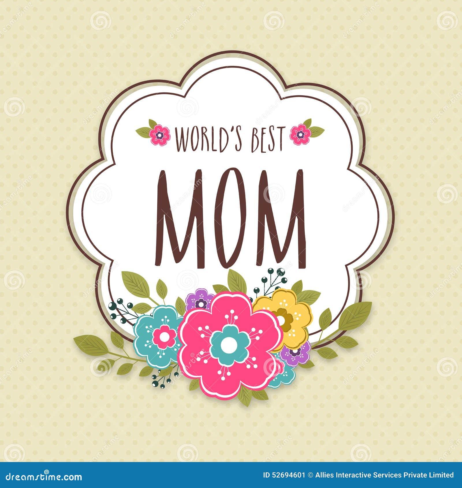 Etiqueta engomada, etiqueta o etiqueta para la celebración feliz del día de madre