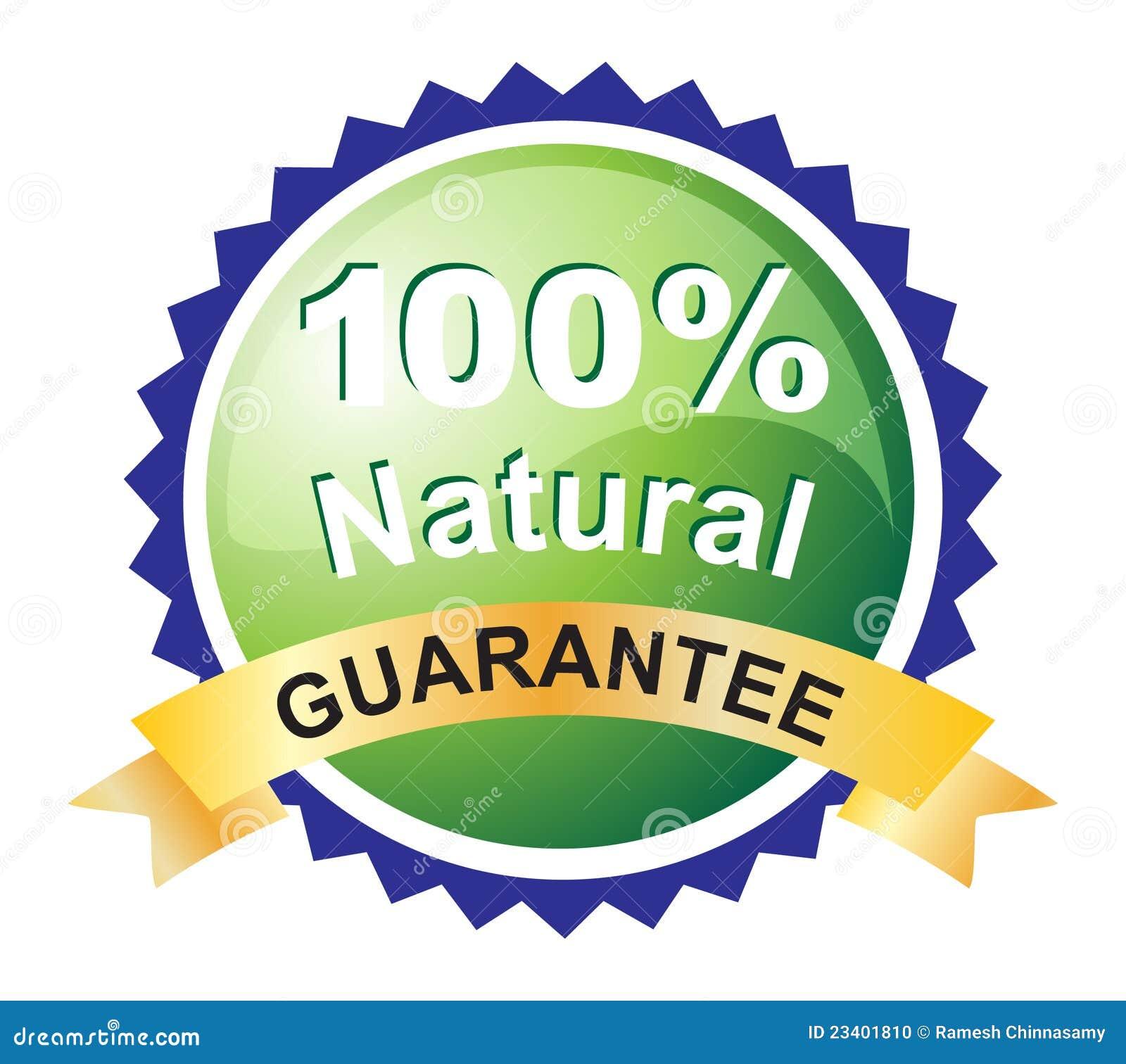Etiqueta natural da garantia