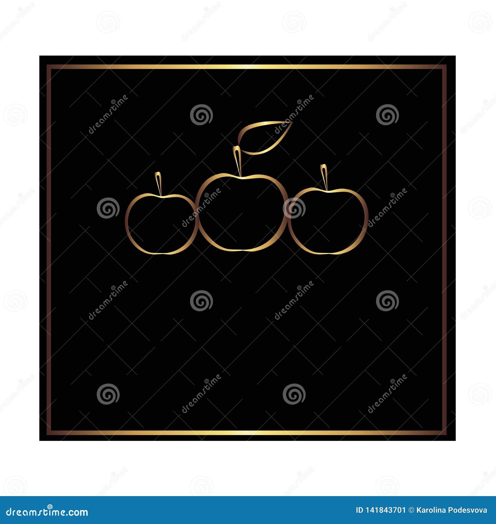 Etiqueta quadrada do preto e do ouro para a garrafa