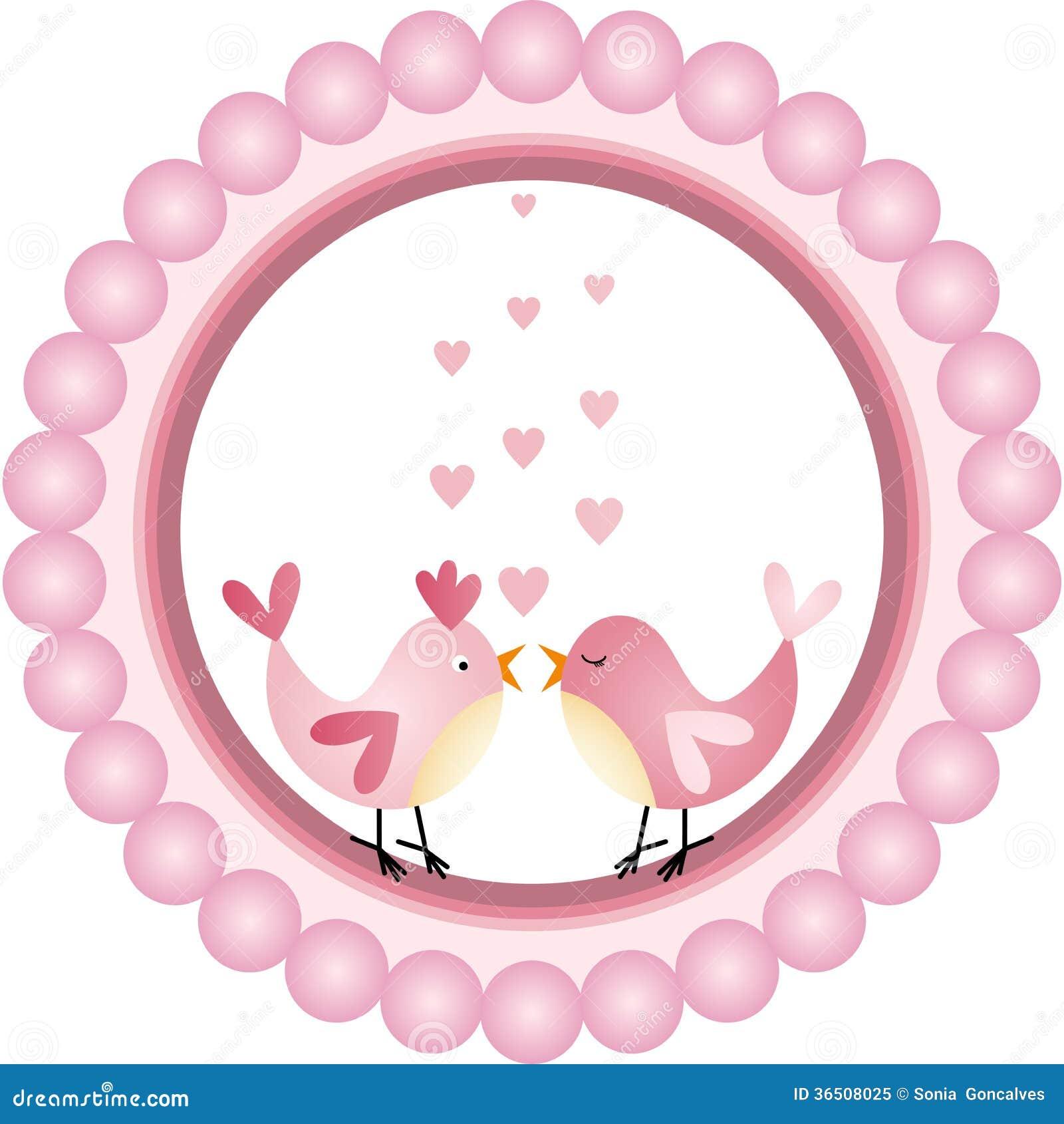 Etiqueta redonda de los p jaros del amor ilustraci n del for Imagenes de piletas redondas