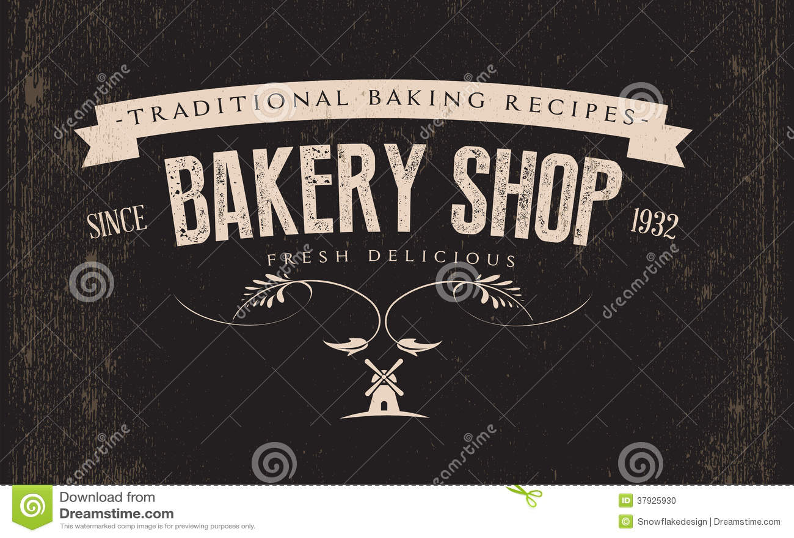 Etiqueta retra de la panadería del vintage