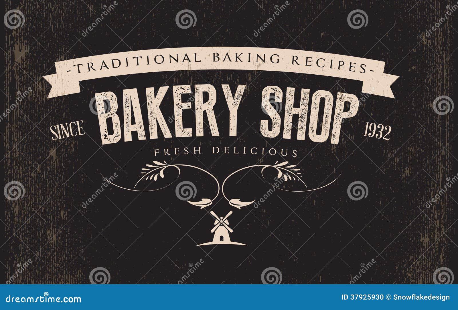 Etiqueta retro da padaria do vintage