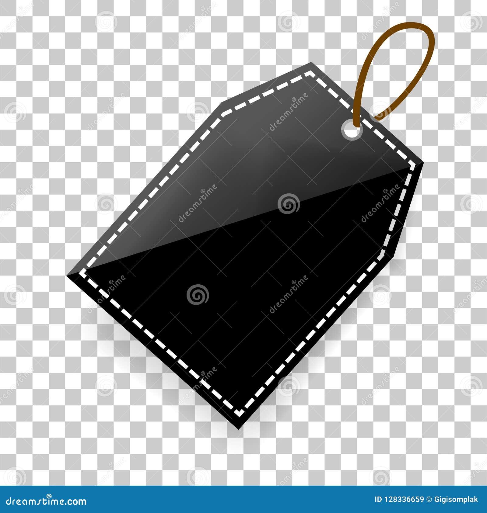 Etiqueta shinning simples da placa do retângulo com sombra macia no fundo transparente do efeito