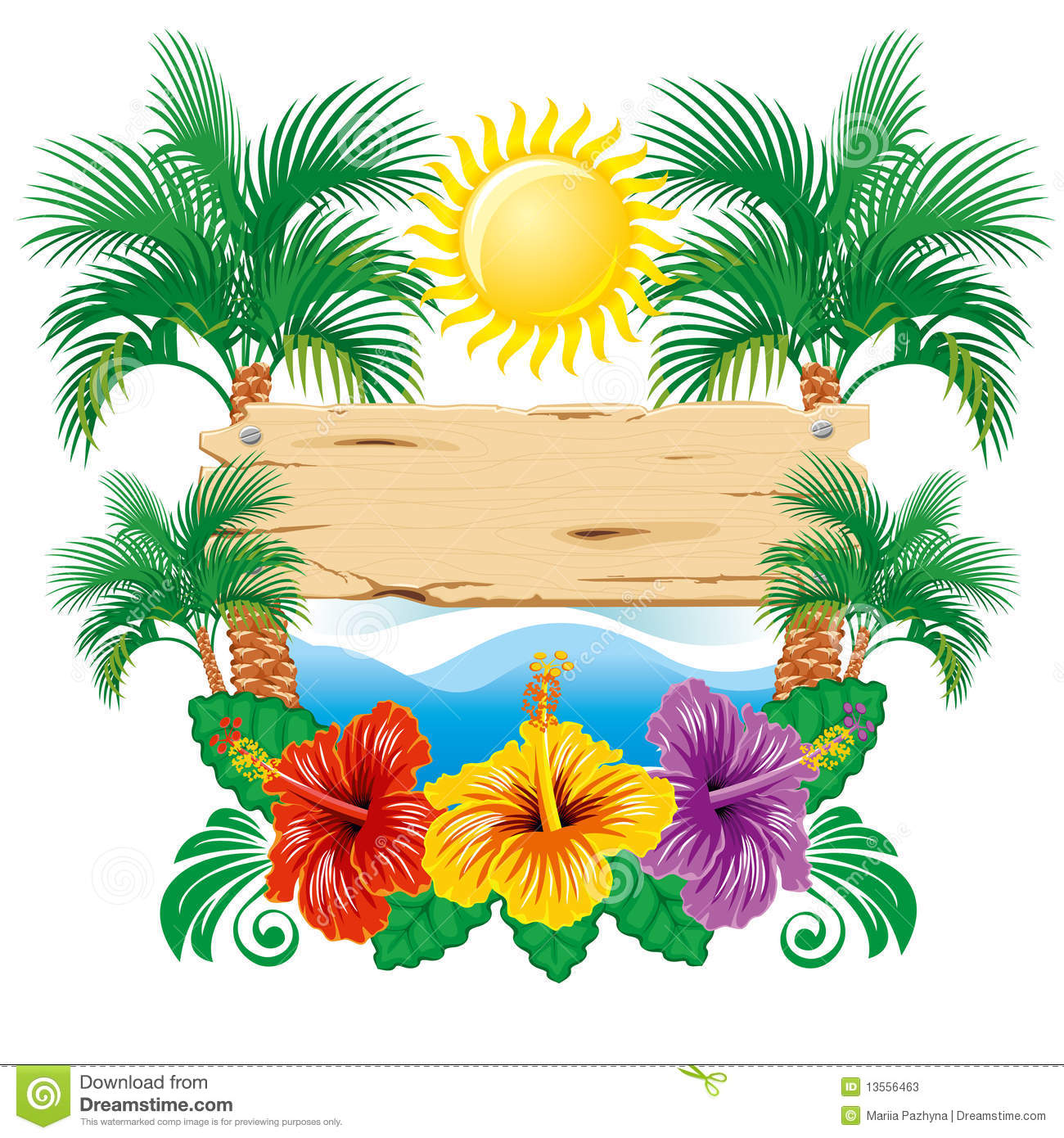 tropical leaf clip art