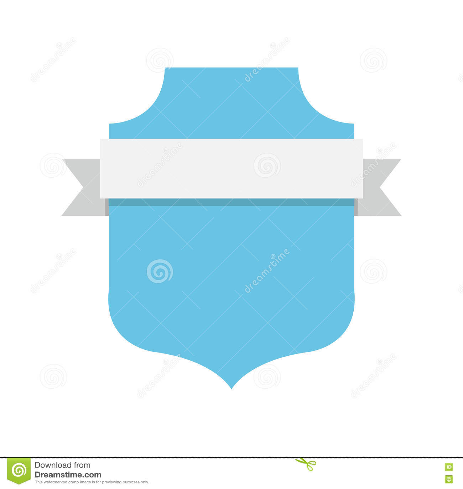 Etiqueta vazia do emblema