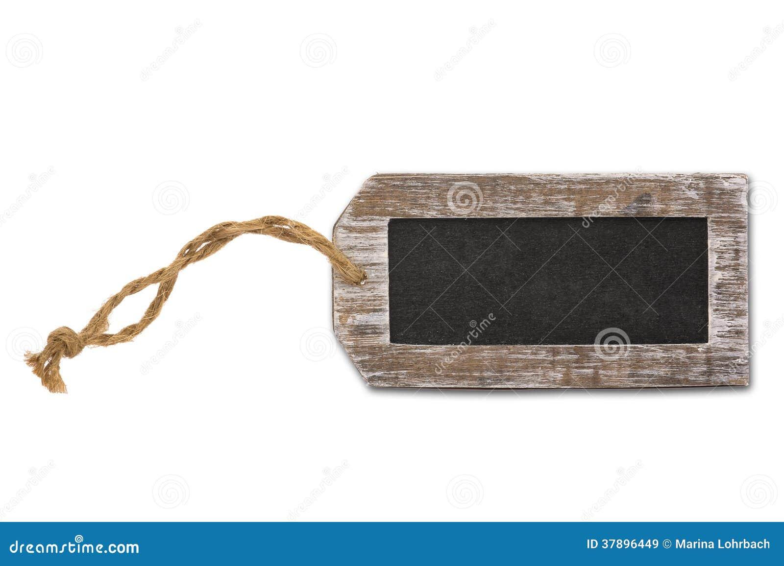 Etiqueta vazia, quadro-negro