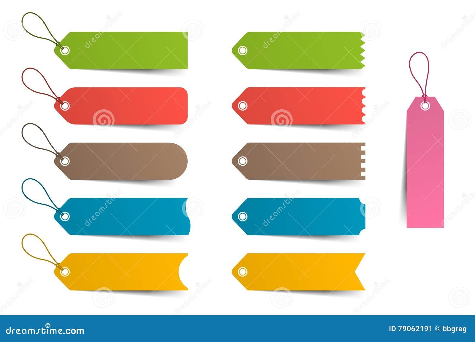 Etiquetas Coloridas, Precio, Sistema De La Plantilla