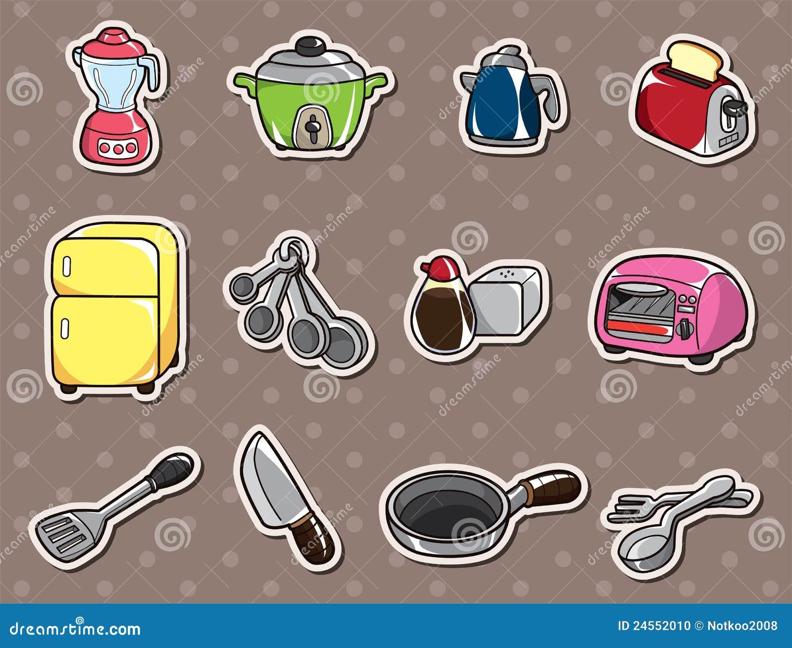 da cozinha dos desenhos animados ilustração do vetor dos desenhos  #044671 1300 1081
