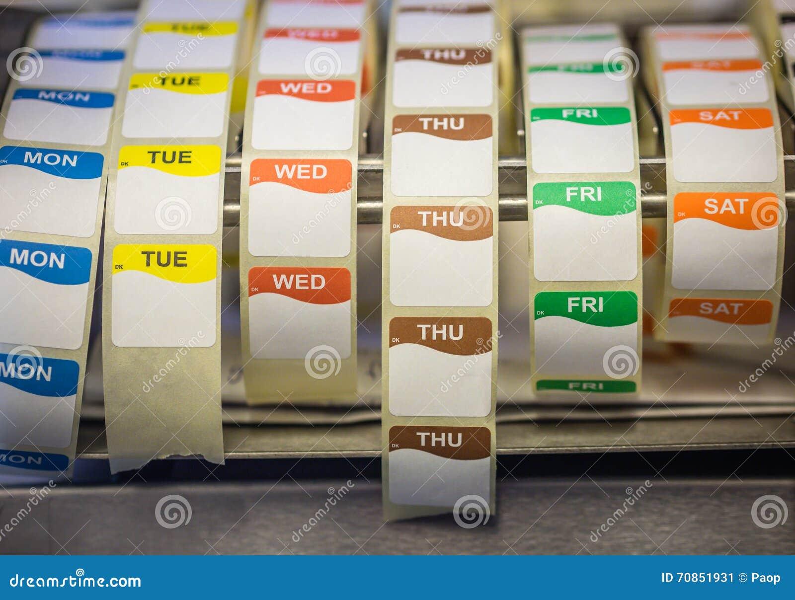 Etiquetas de data do alimento