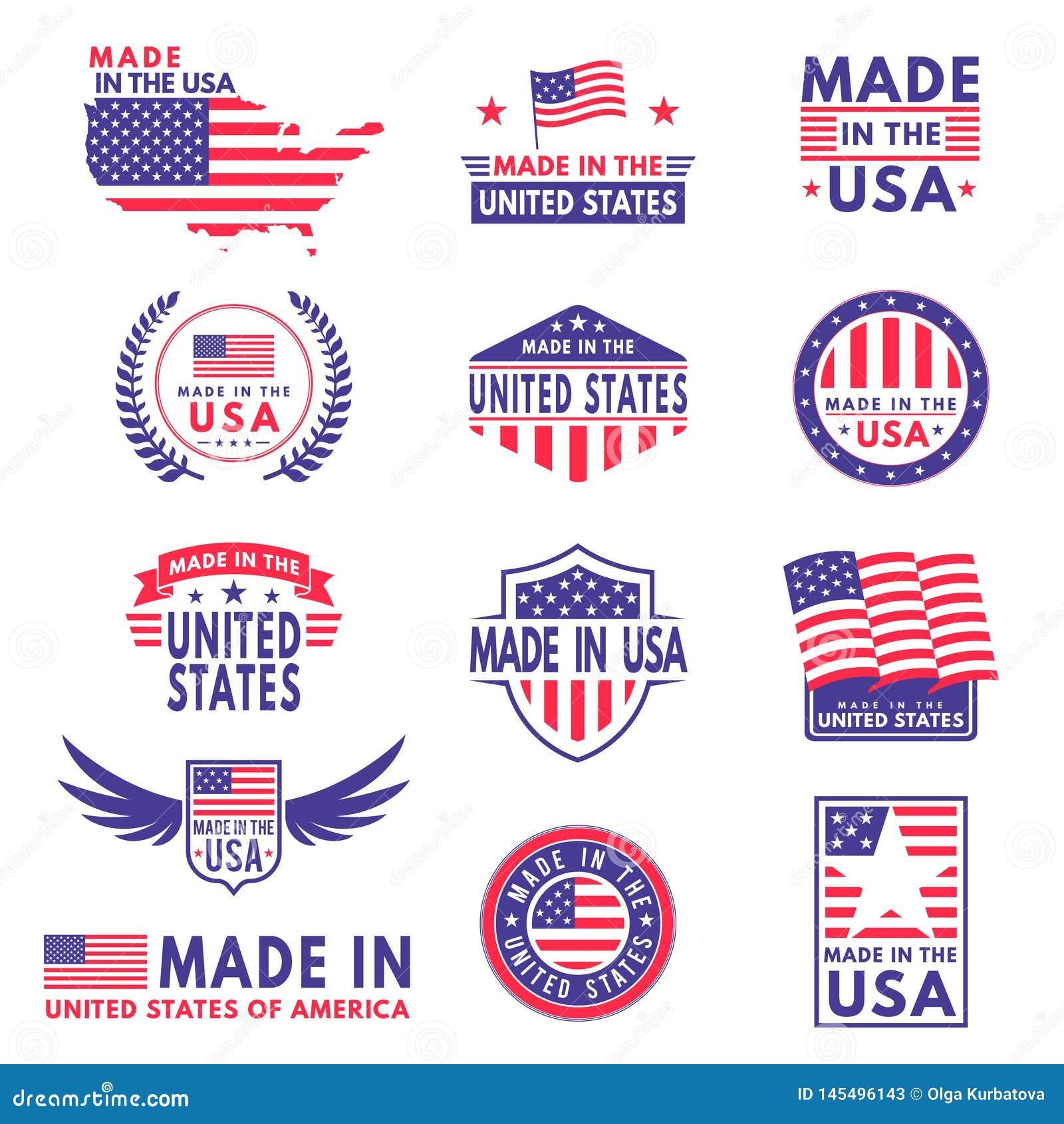 Etiquetas de los E.E.U.U. La bandera hizo Am?rica estados americanos que las banderas etiquetan la bandera de la etiqueta engomad
