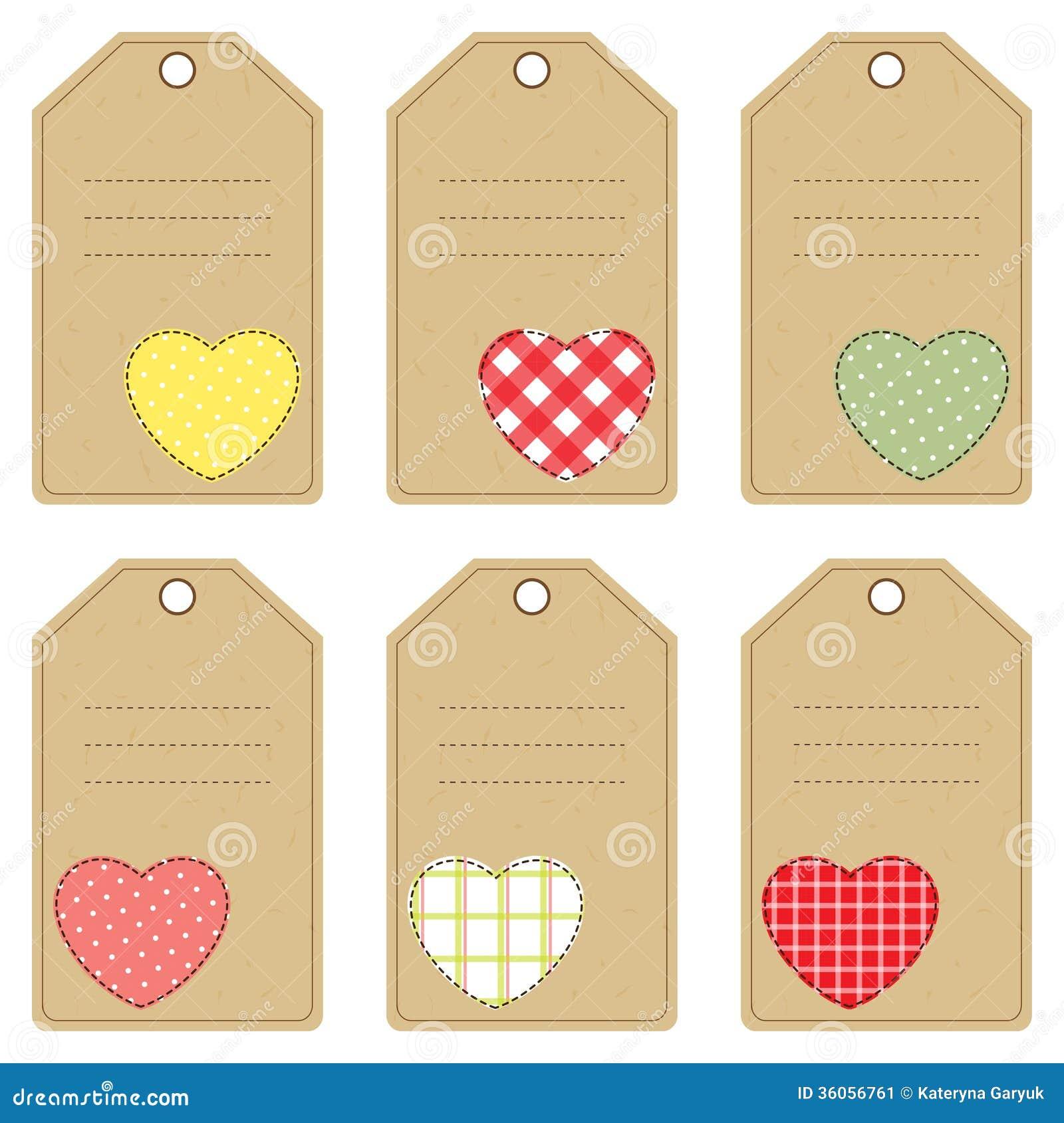 etiquetas del regalo para el día de tarjeta del día de san valentín
