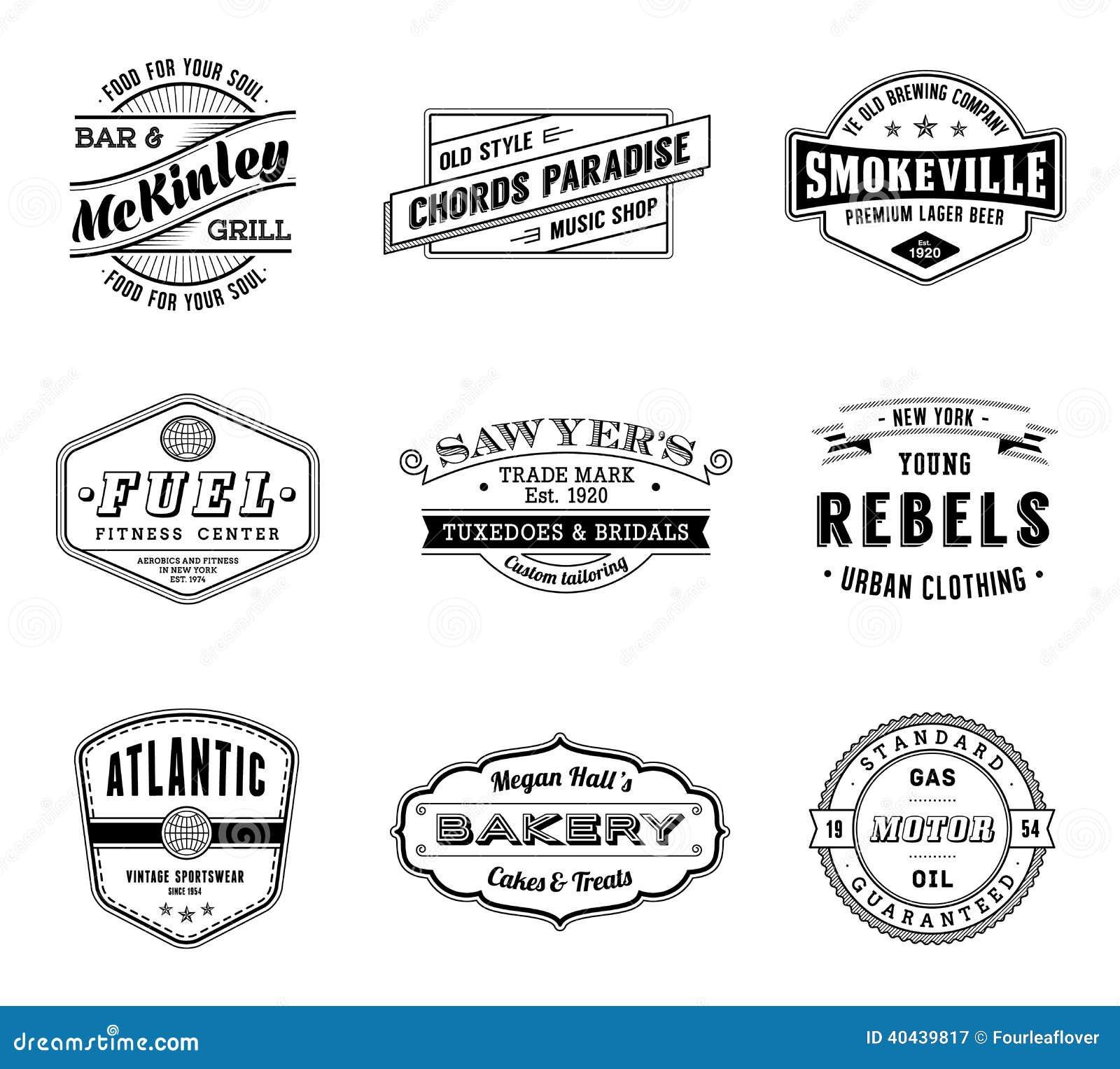 Etiquetas del vector del vintage