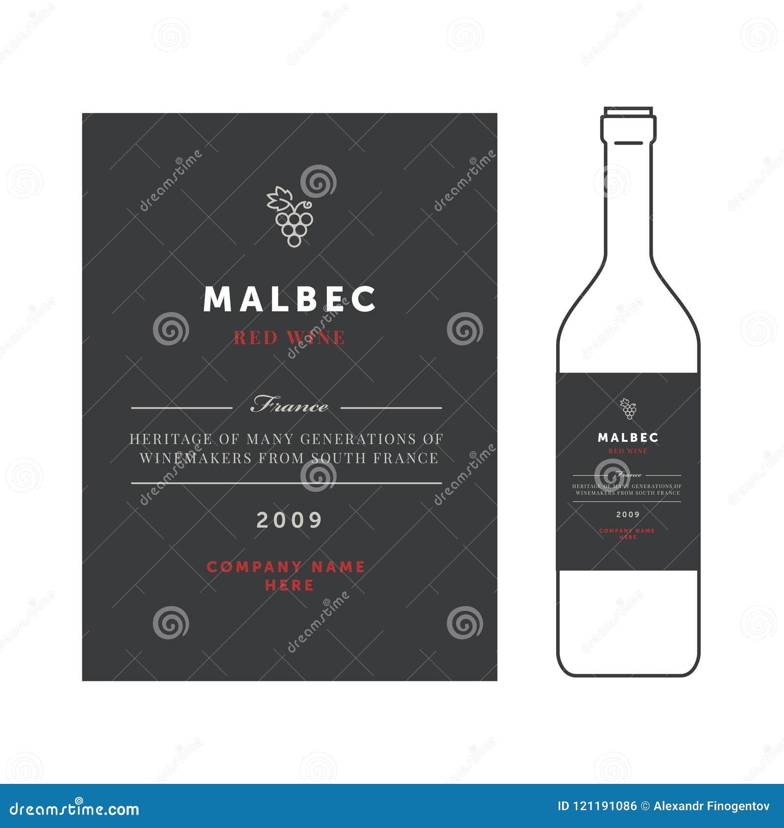 Etiquetas Del Vino Rojo Sistema Superior De La Plantilla Del Vector ...