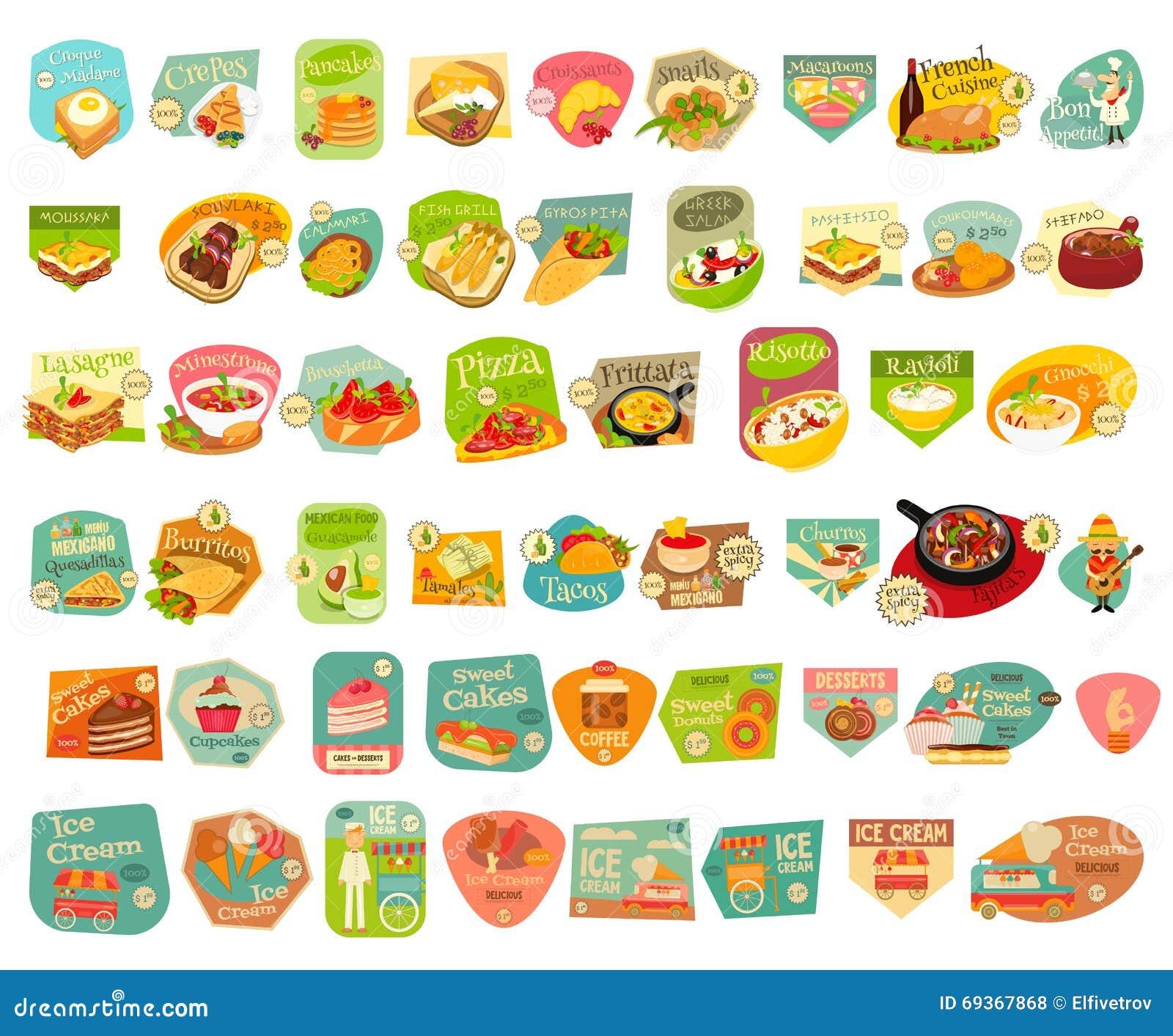 Etiquetas do alimento ajustadas