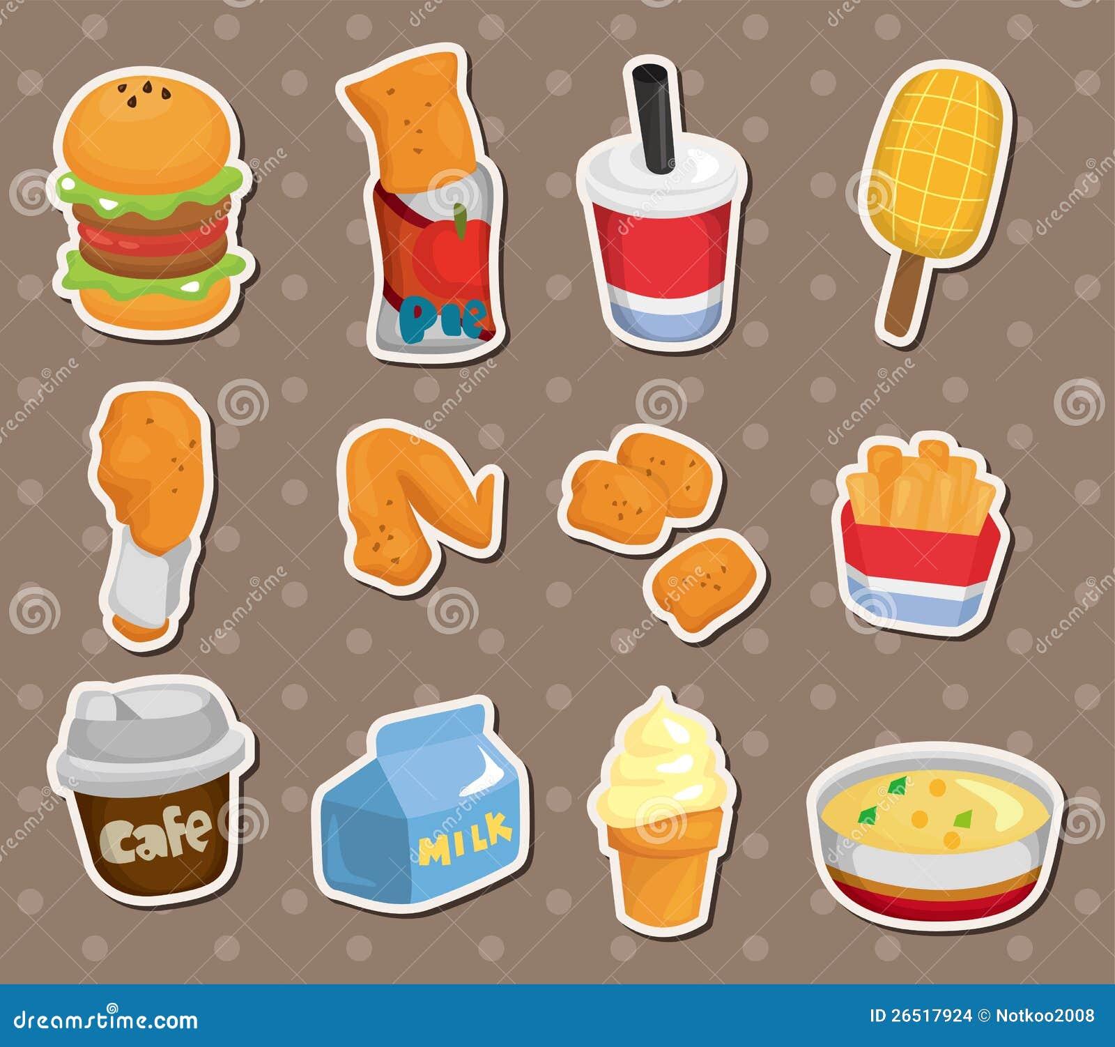 Etiquetas do fast food