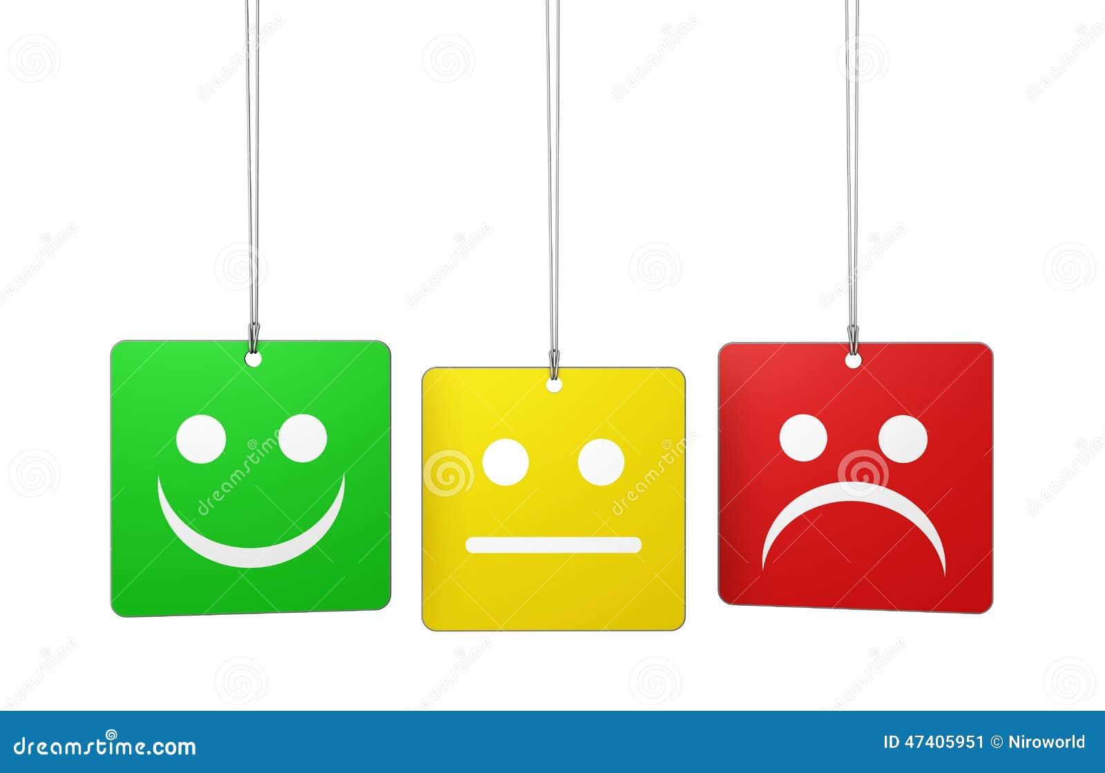 Etiquetas do feedback da qualidade do serviço ao cliente