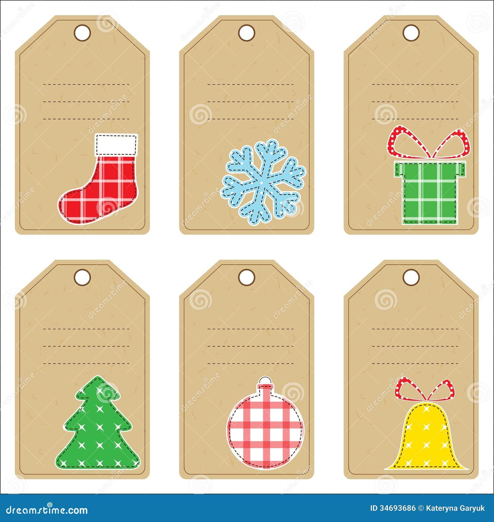Etiquetas do presente do Natal