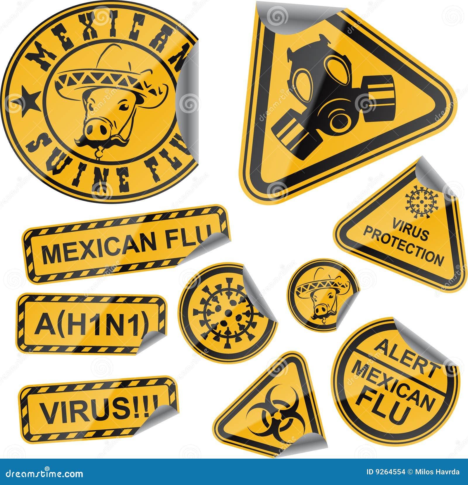 Etiquetas do vírus
