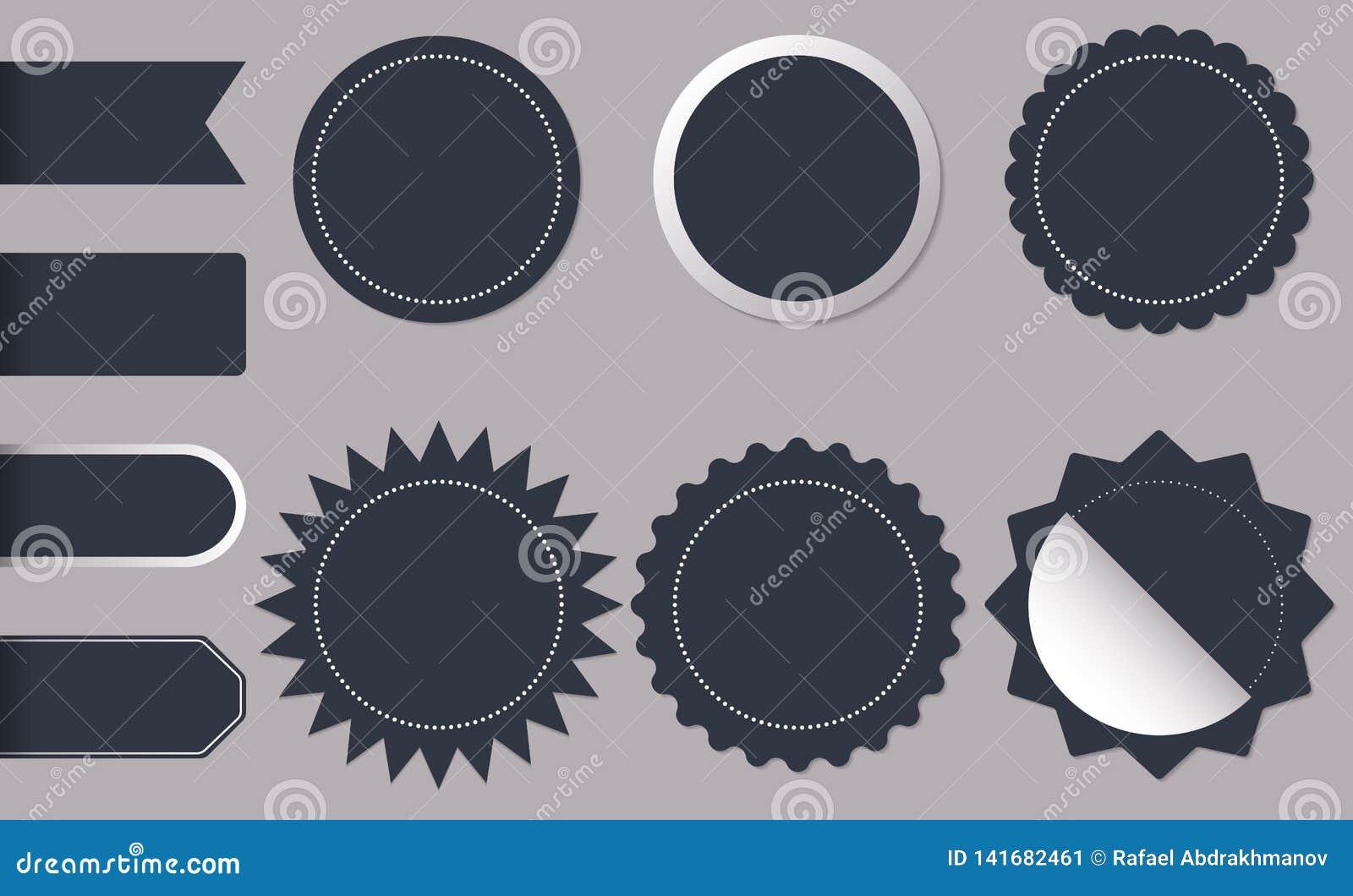 Etiquetas engomadas del círculo de la forma horizontal y redonda para las nuevas y mejores etiquetas del producto de la tienda de