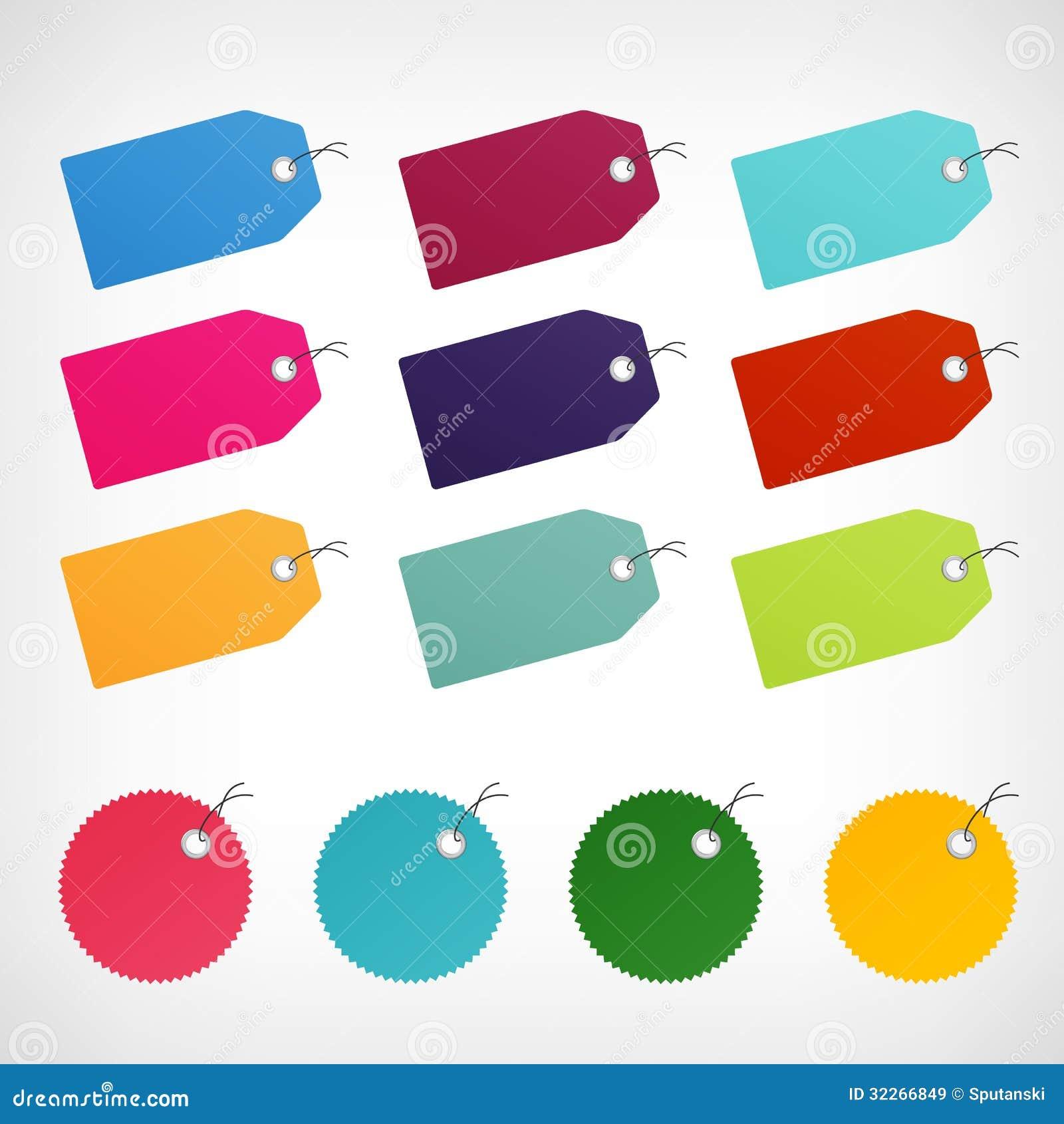 Etiquetas engomadas en blanco de las etiquetas de precio for Precio logo