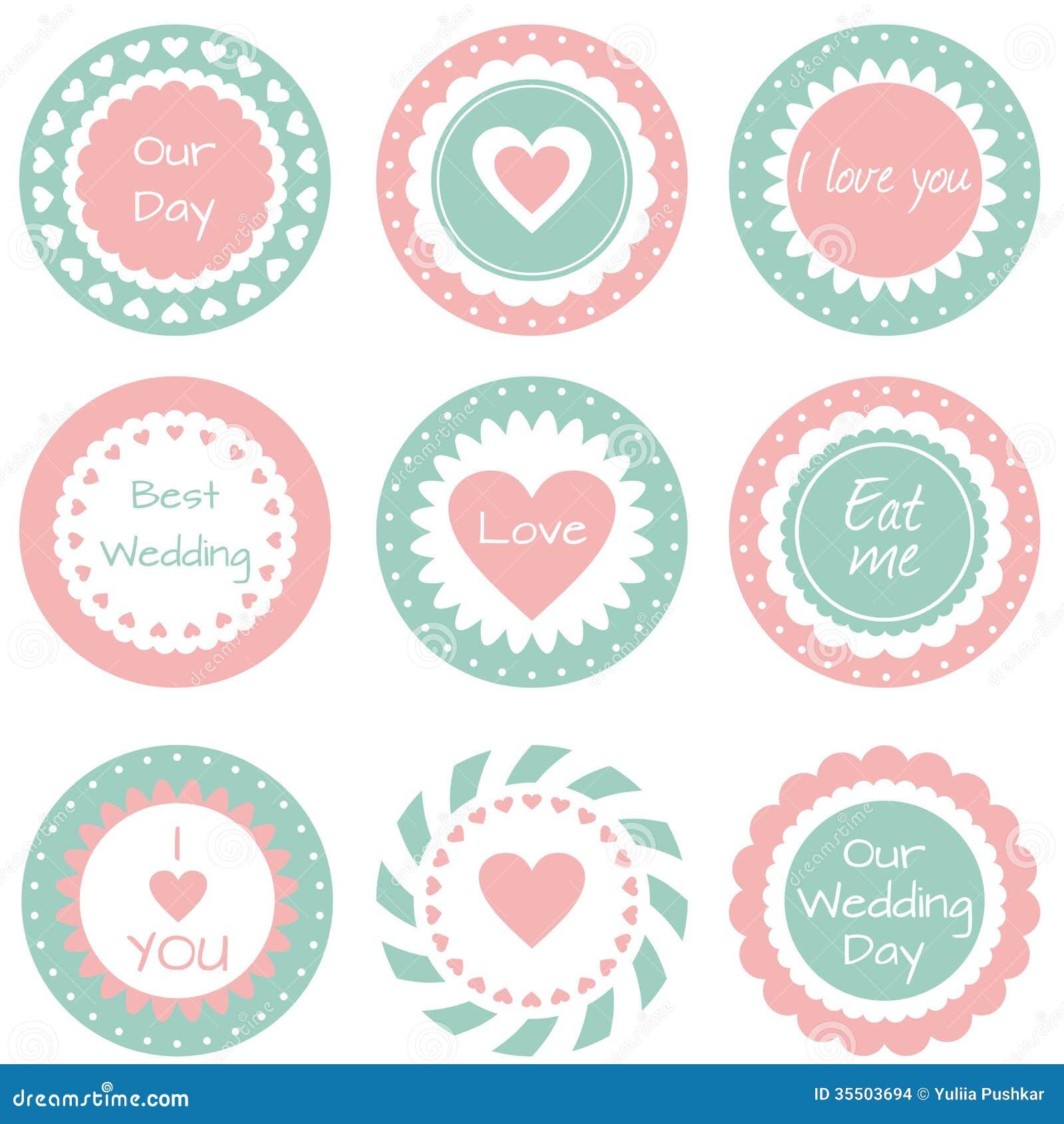 Etiquetas Para O Casamento Imagens De Stock Imagem 35503694