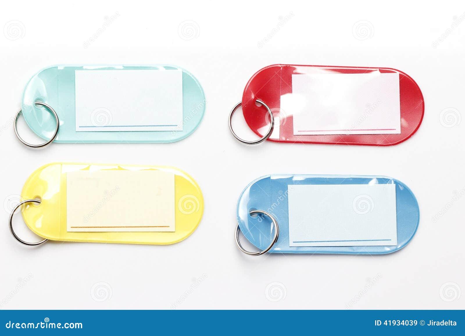busca lo mejor descuento de venta caliente 100% autentico Etiquetas Plásticas Coloridas Imagen de archivo - Imagen de ...