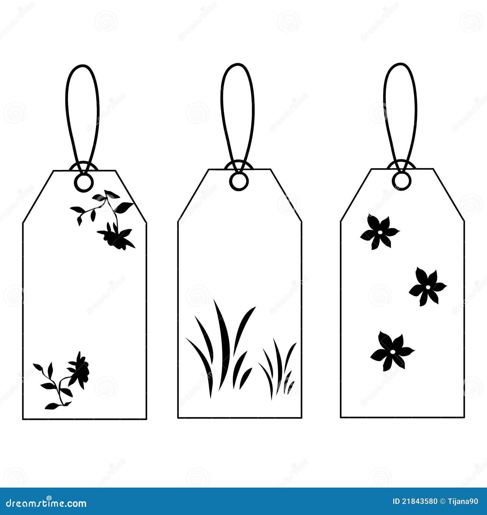 Etiquetas Preto E Branco Ilustracao Stock Ilustracao De Original
