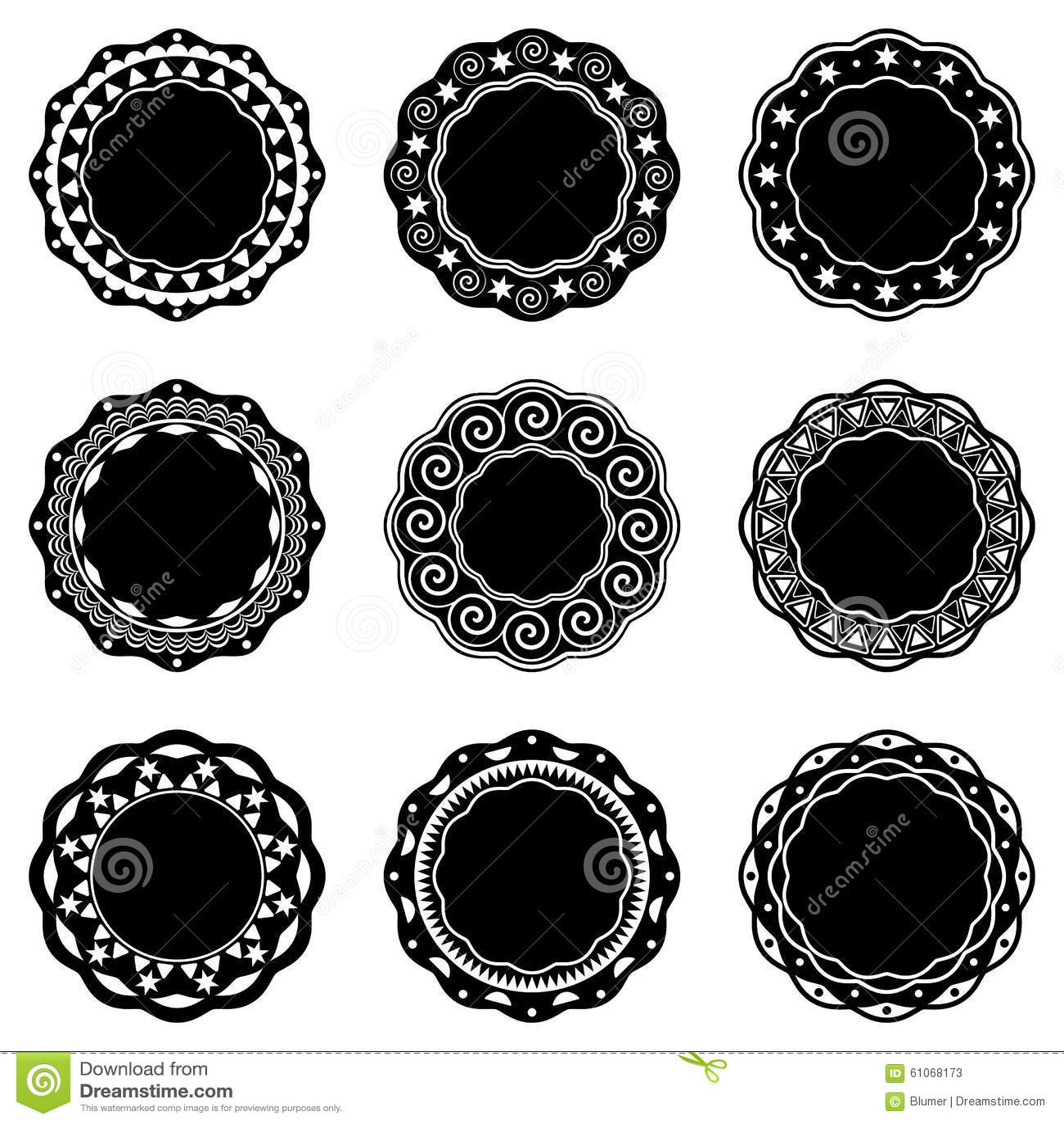 Etiquetas redondas del vintage ilustraci n del vector for Imagenes de piletas redondas