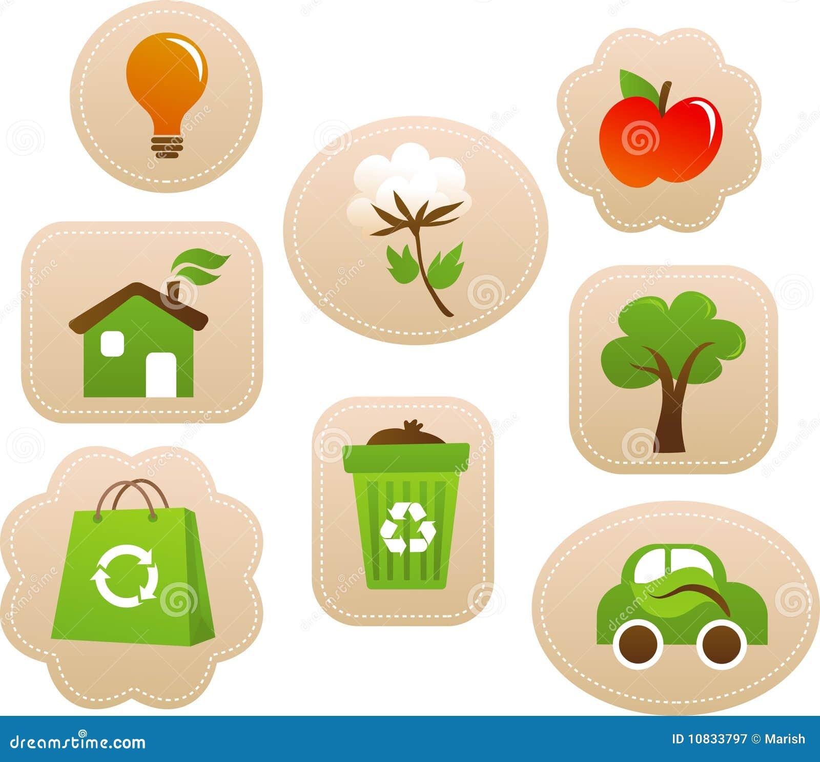 Etiquetas y escrituras de la etiqueta de la ecología