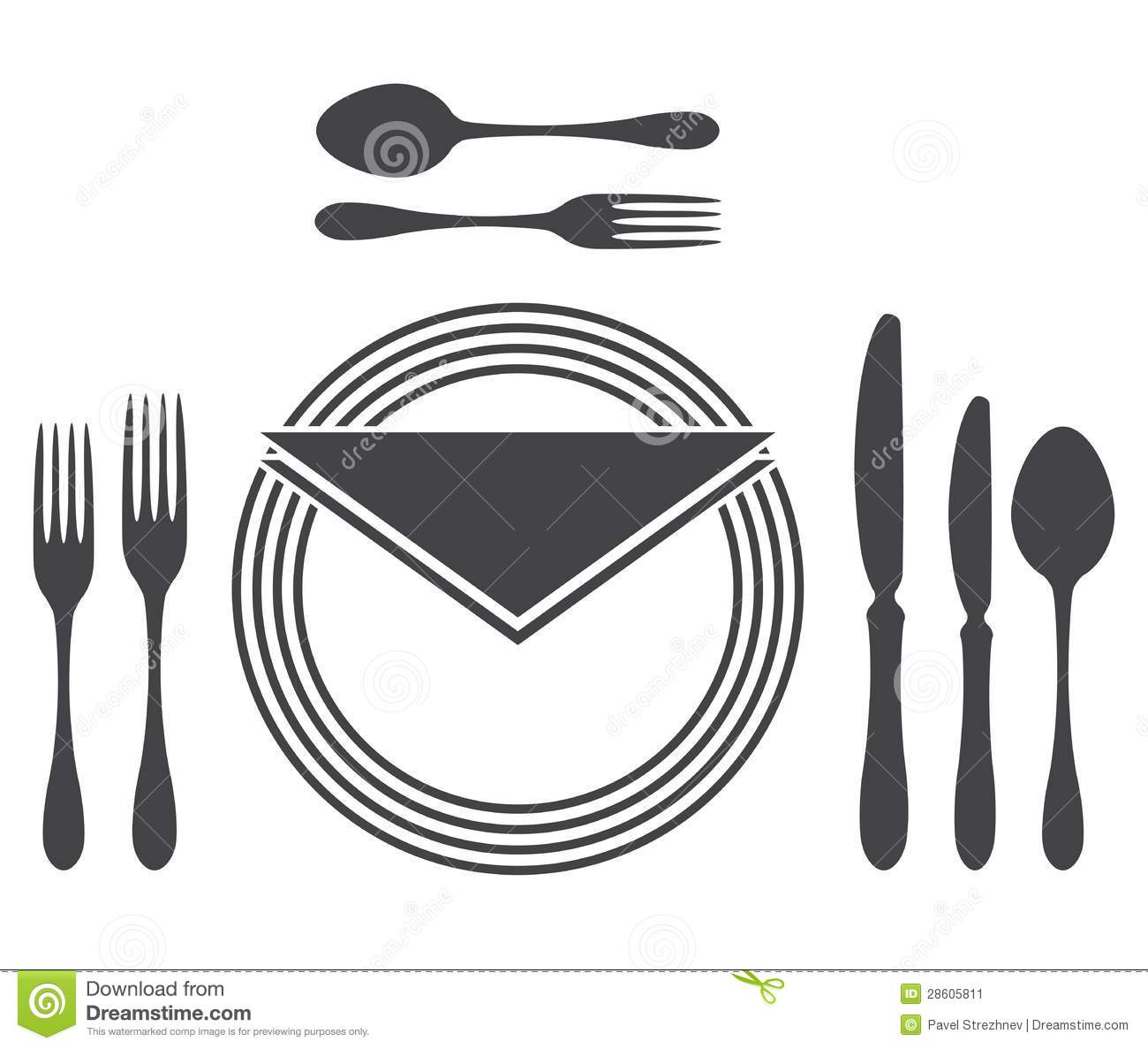 Etiquette Proper Table Setting  sc 1 st  Dreamstime.com & Etiquette Proper Table Setting Stock Vector - Illustration of paper ...