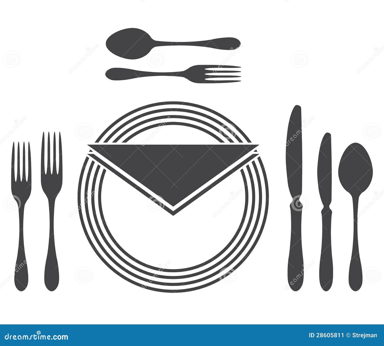 Etiquette Proper Table Setting  Table Etiquette Clip Art