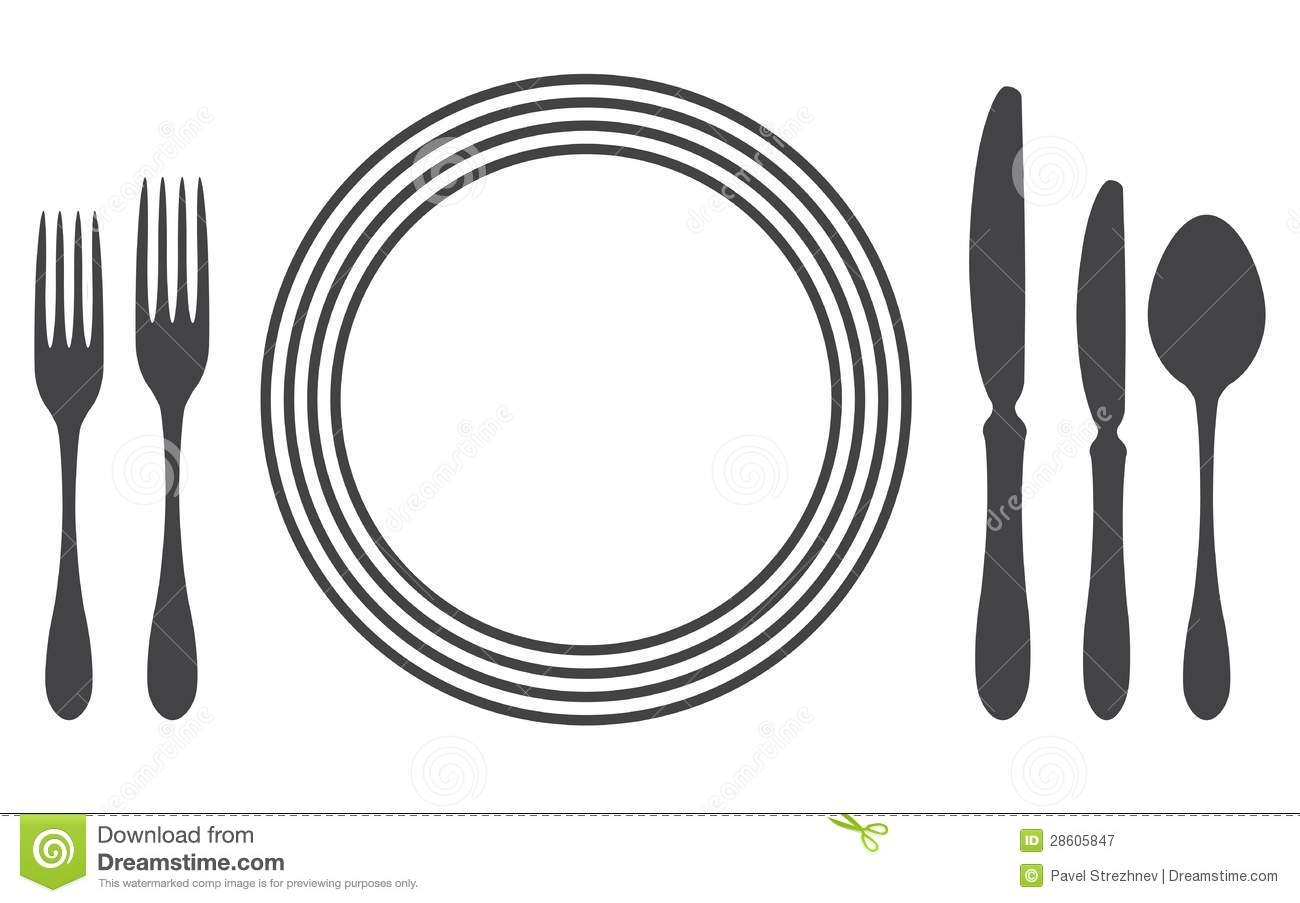 Download Etiquette Proper Table Setting Stock Vector   Illustration Of  Fork, Bistro: 28605847