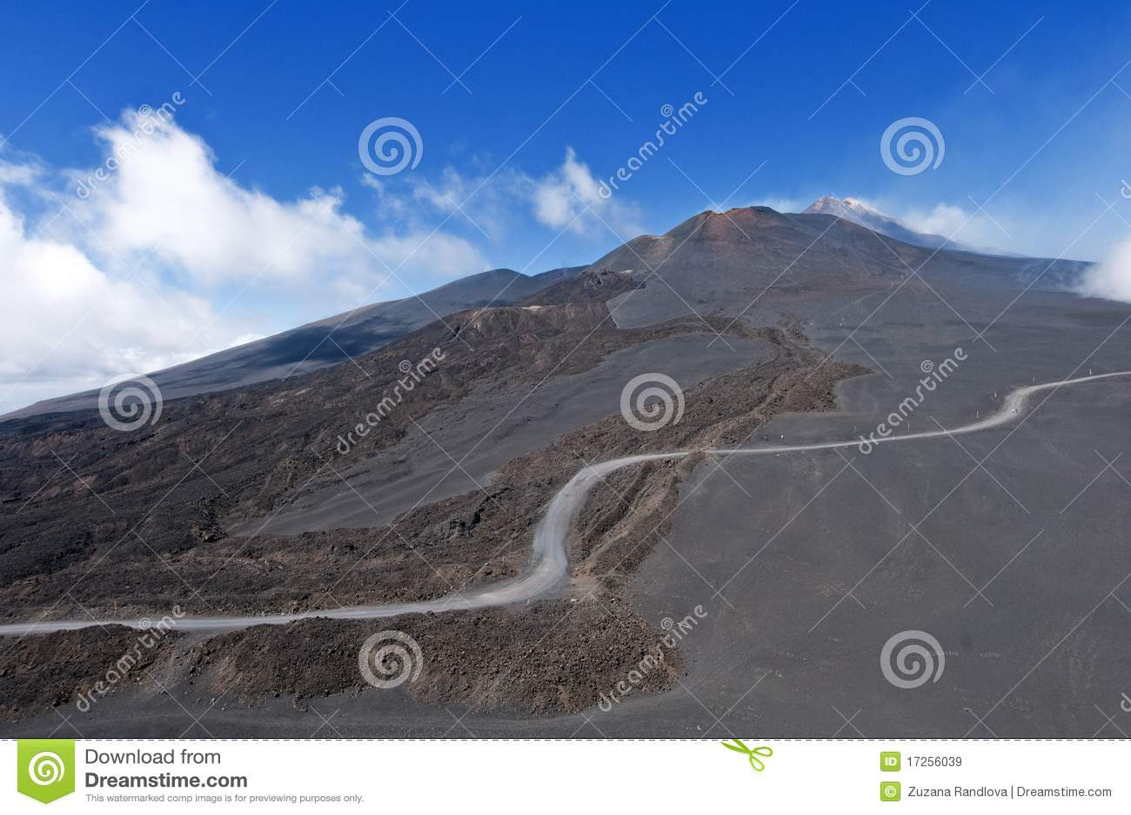 Etna montering som ska tops långt