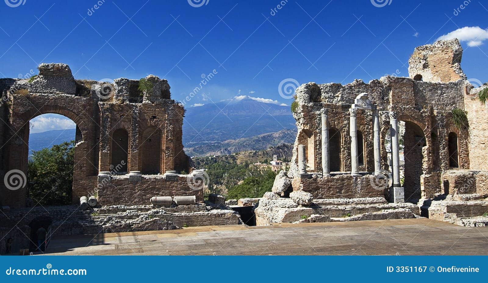 Etna taorminie teatr grecki