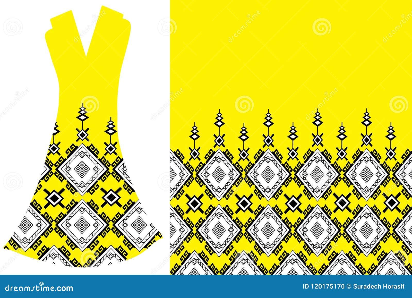 Etniczna szyi broderia dla mody i innych uses w wektorze