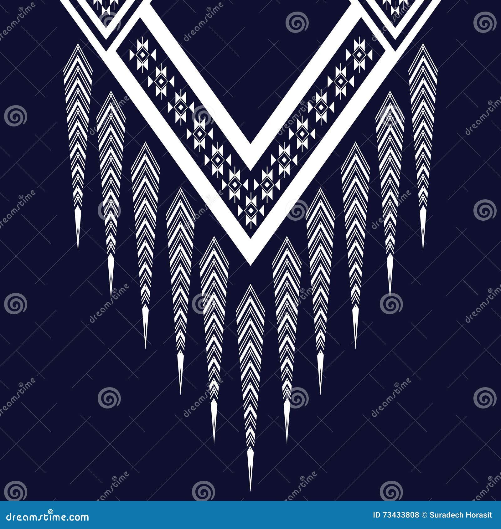 Etniczna szyi broderia dla mody wewnątrz i innych uses