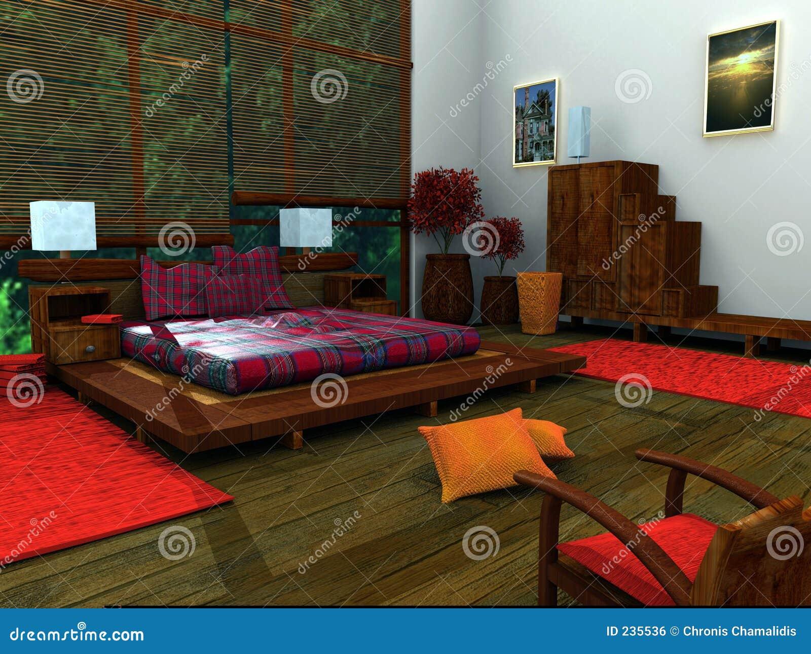 Etniczna w sypialni